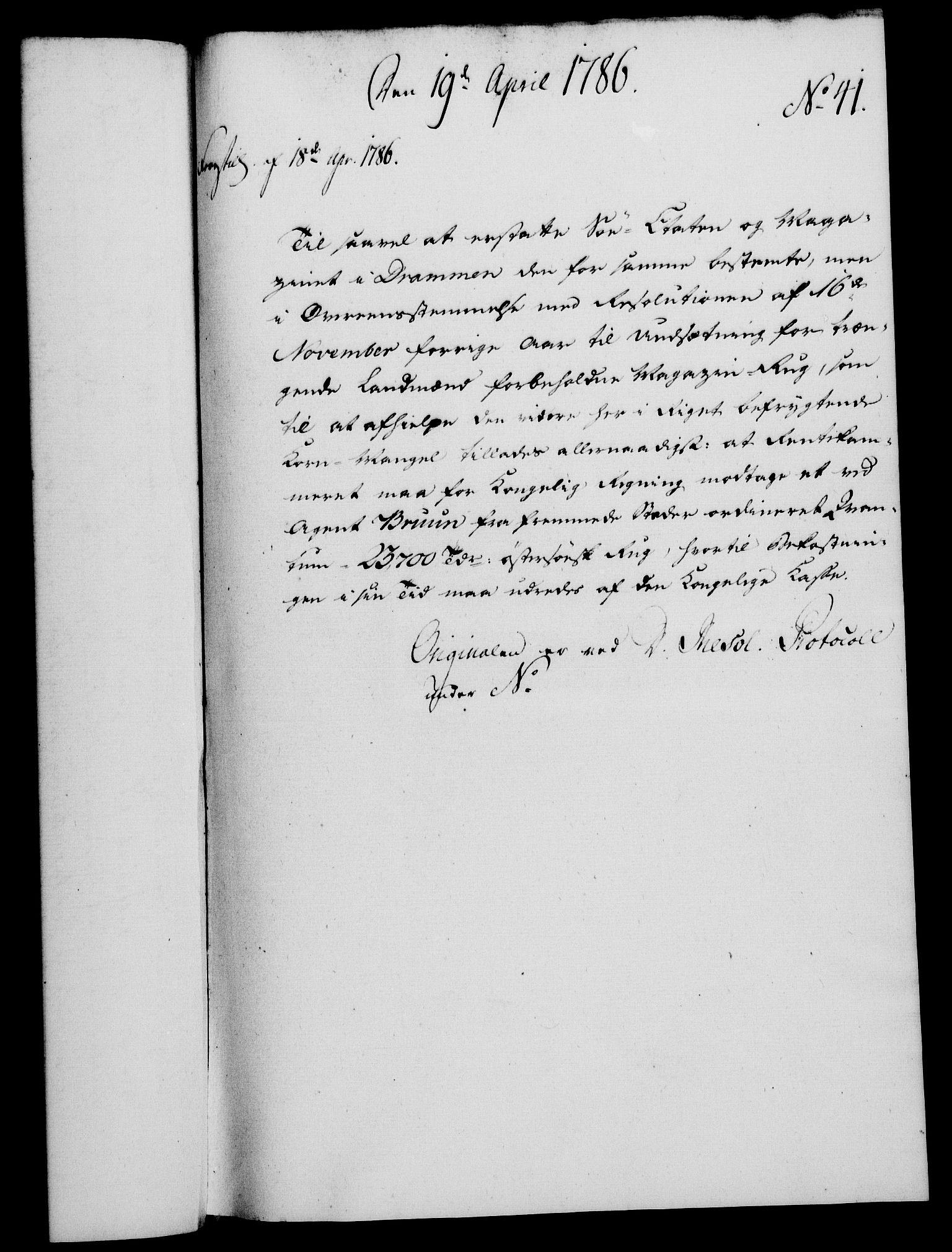 RA, Rentekammeret, Kammerkanselliet, G/Gf/Gfa/L0068: Norsk relasjons- og resolusjonsprotokoll (merket RK 52.68), 1786, s. 319