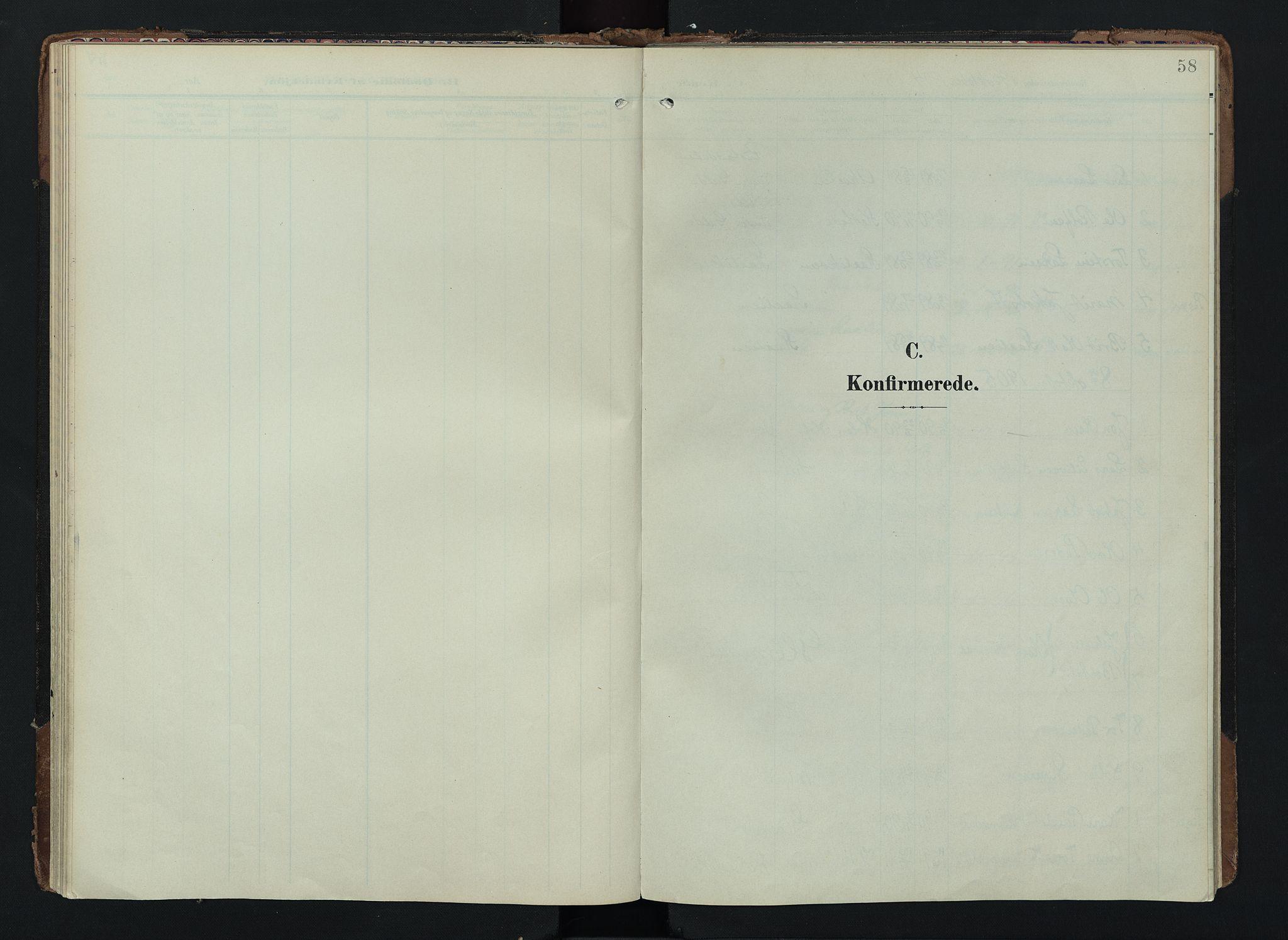 SAH, Lom prestekontor, K/L0012: Ministerialbok nr. 12, 1904-1928, s. 58