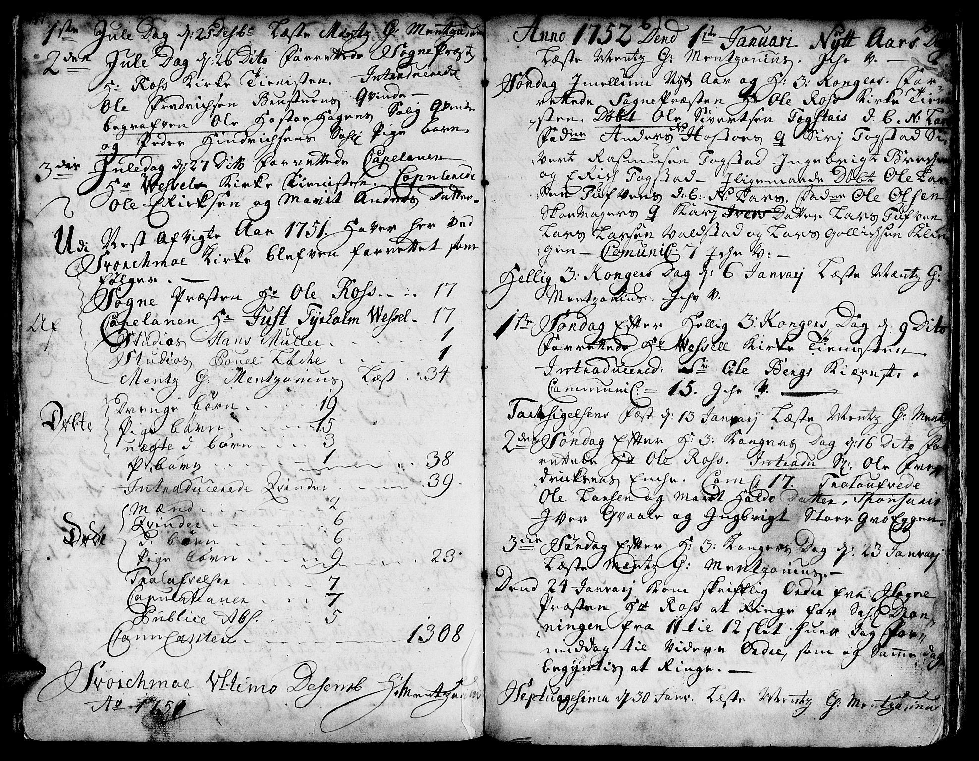 SAT, Ministerialprotokoller, klokkerbøker og fødselsregistre - Sør-Trøndelag, 671/L0839: Ministerialbok nr. 671A01, 1730-1755, s. 417-418