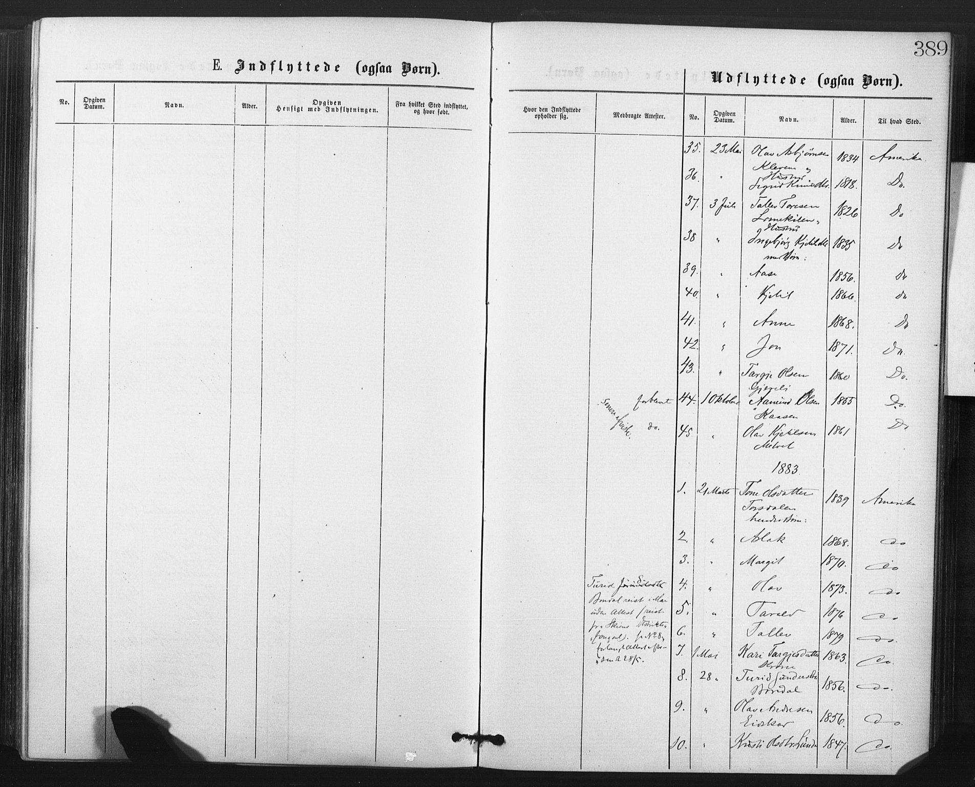 SAKO, Fyresdal kirkebøker, F/Fa/L0006: Ministerialbok nr. I 6, 1872-1886, s. 389