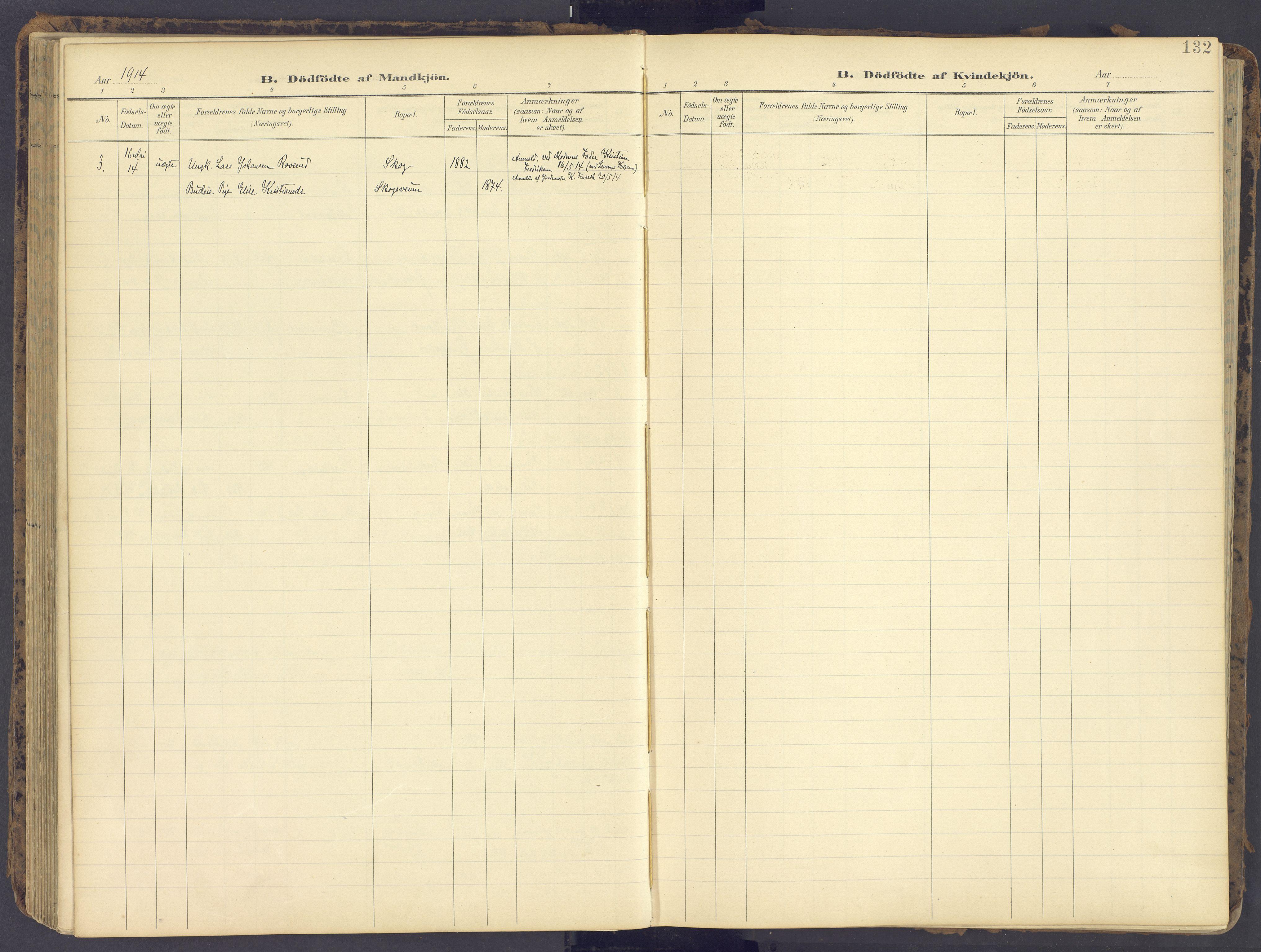 SAH, Fåberg prestekontor, Ministerialbok nr. 12, 1899-1915, s. 132