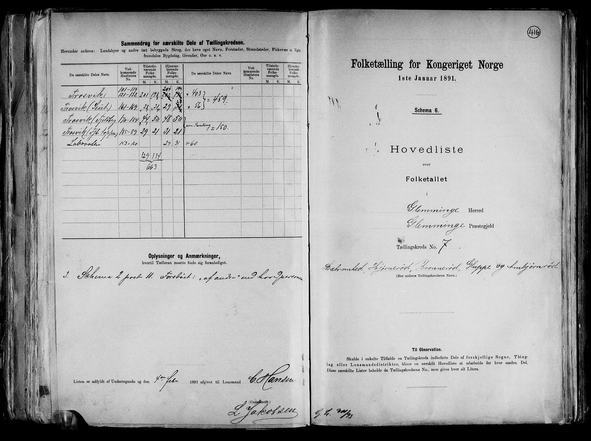 RA, Folketelling 1891 for 0132 Glemmen herred, 1891, s. 28