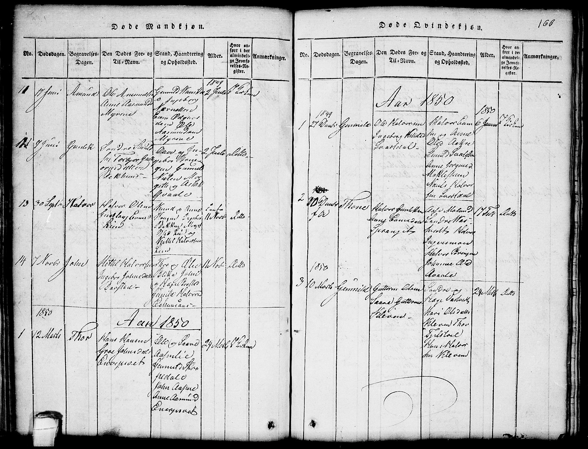 SAKO, Seljord kirkebøker, G/Gb/L0002: Klokkerbok nr. II 2, 1815-1854, s. 166