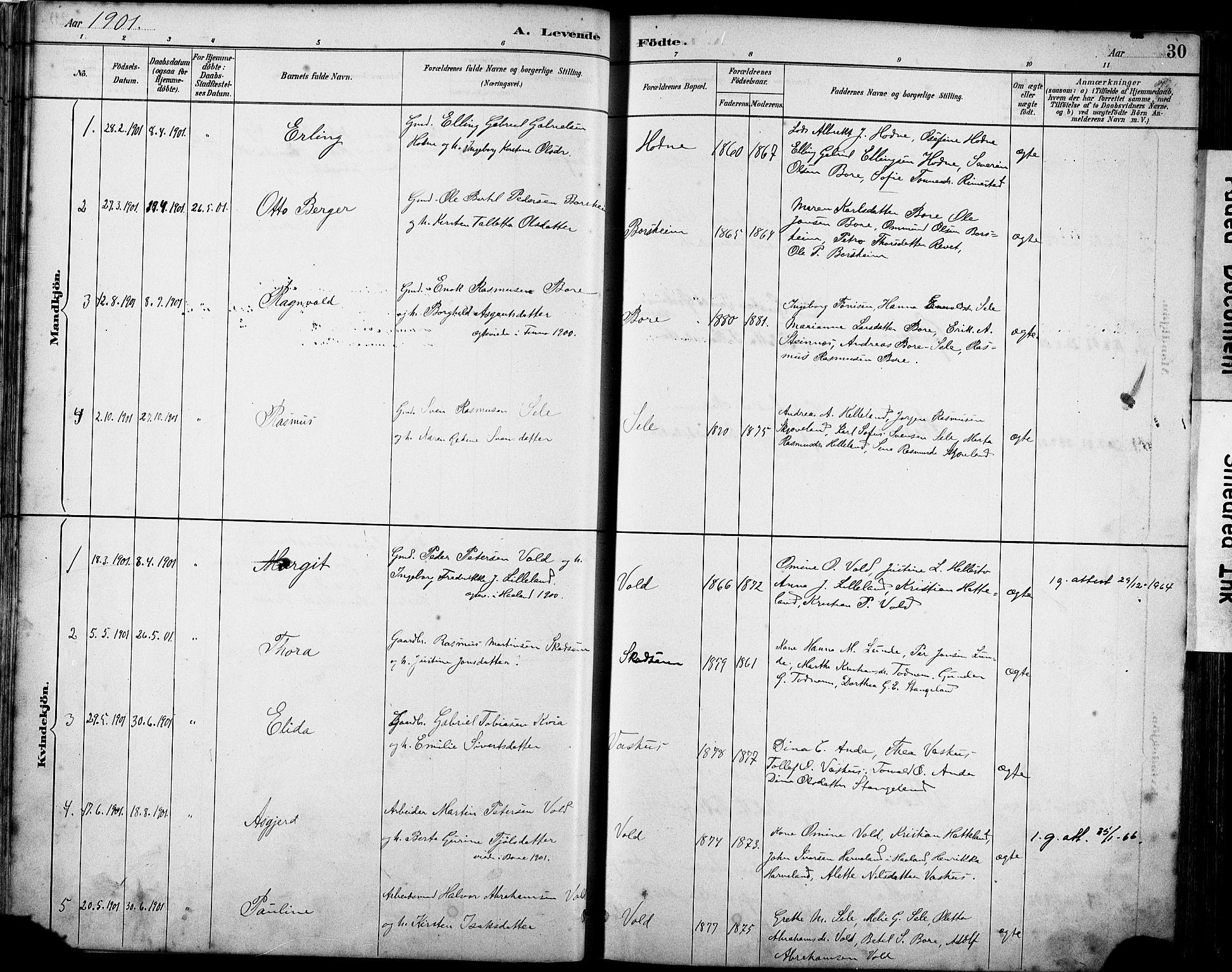 SAST, Klepp sokneprestkontor, 30BA/L0008: Ministerialbok nr. A 9, 1886-1919, s. 30