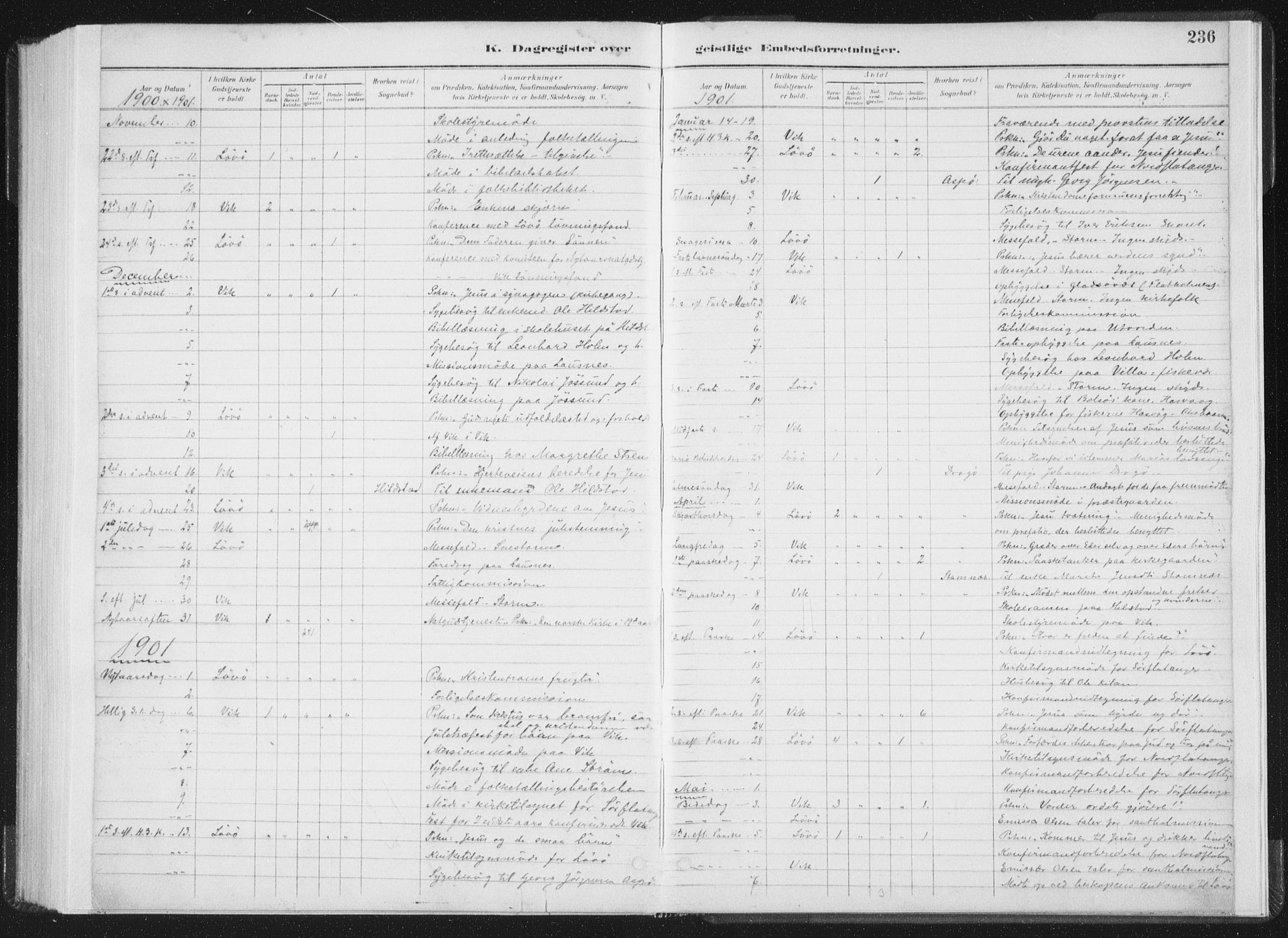 SAT, Ministerialprotokoller, klokkerbøker og fødselsregistre - Nord-Trøndelag, 771/L0597: Ministerialbok nr. 771A04, 1885-1910, s. 236