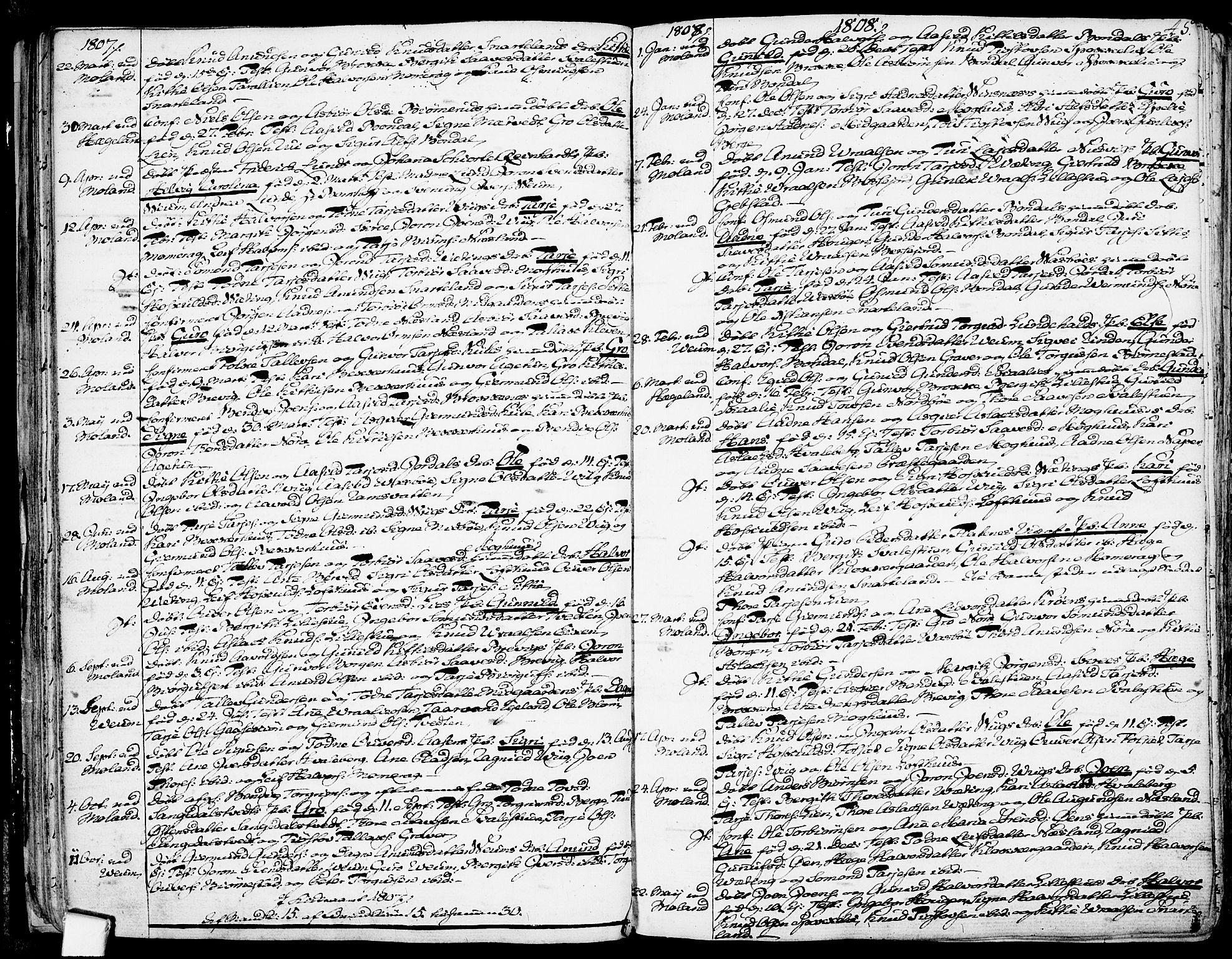 SAKO, Fyresdal kirkebøker, F/Fa/L0002: Ministerialbok nr. I 2, 1769-1814, s. 45