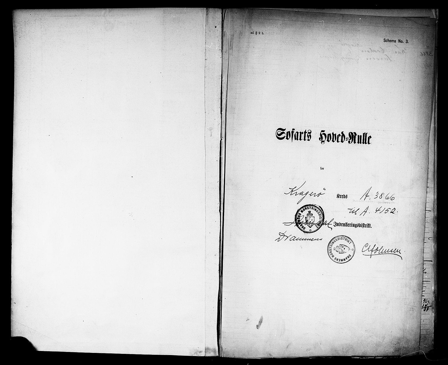 SAKO, Kragerø innrulleringskontor, F/Fc/L0009: Hovedrulle, 1912-1920, s. 2