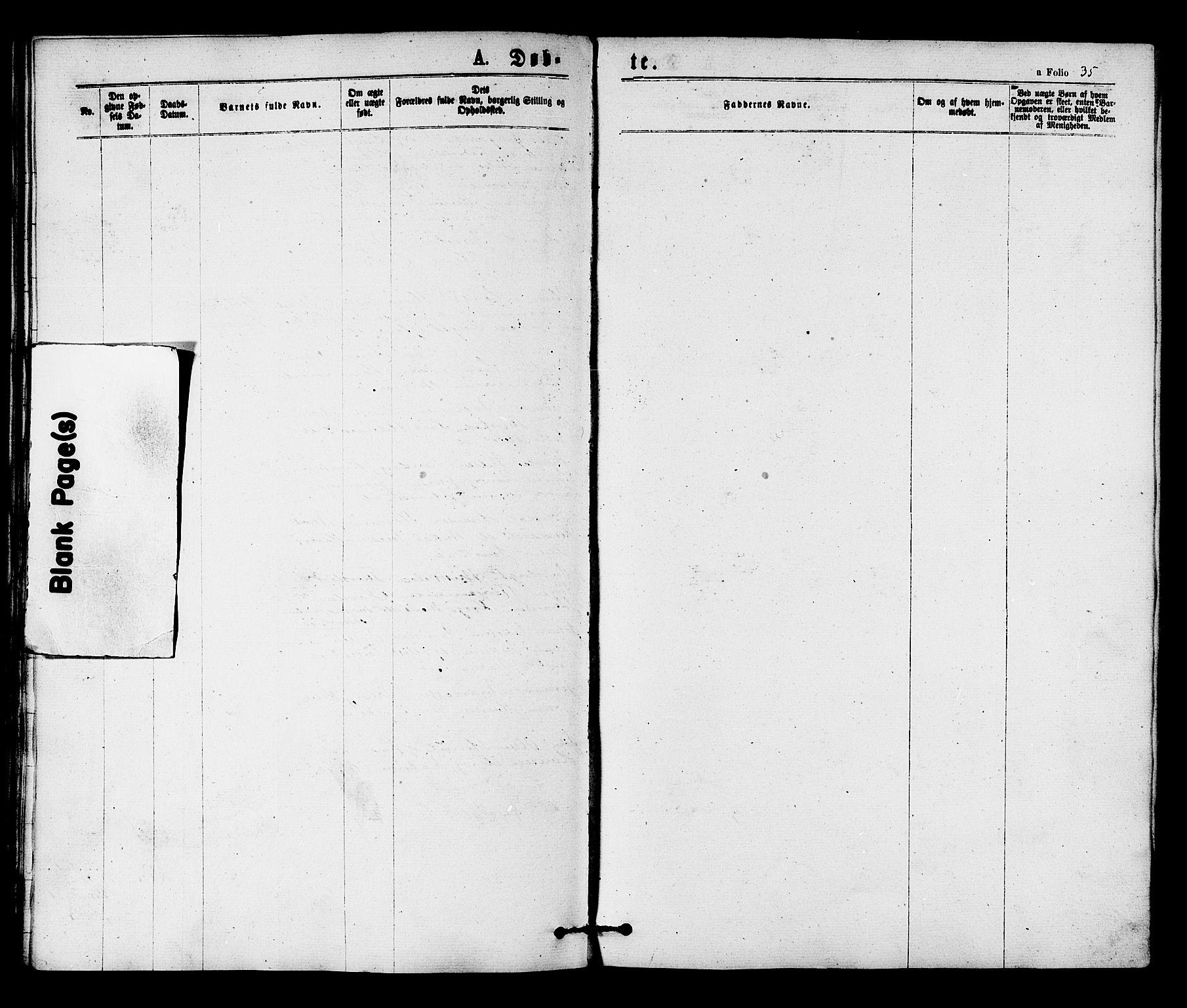 SAT, Ministerialprotokoller, klokkerbøker og fødselsregistre - Nord-Trøndelag, 784/L0671: Ministerialbok nr. 784A06, 1876-1879, s. 35