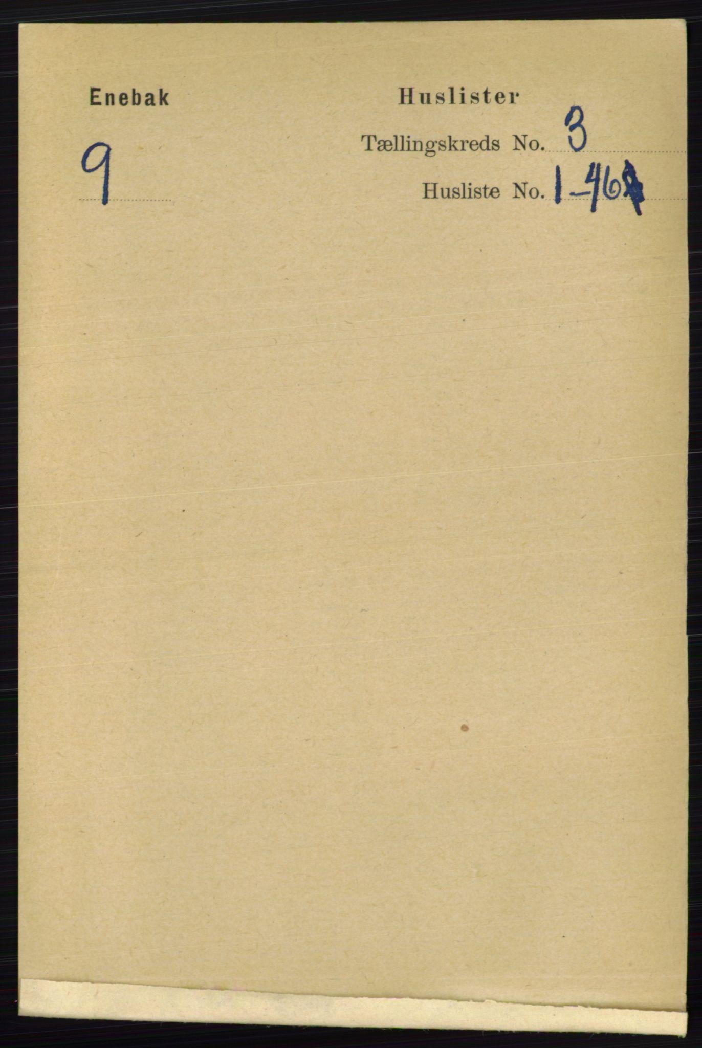 RA, Folketelling 1891 for 0229 Enebakk herred, 1891, s. 1071
