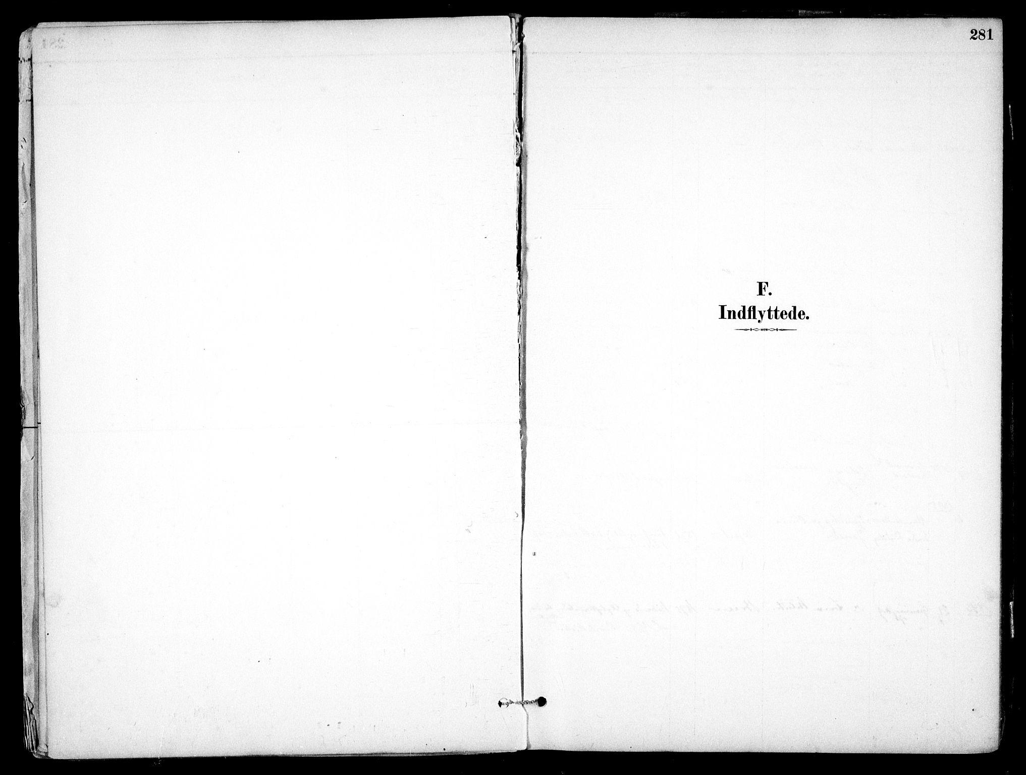 SAO, Nes prestekontor Kirkebøker, F/Fb/L0002: Ministerialbok nr. II 2, 1883-1918, s. 281