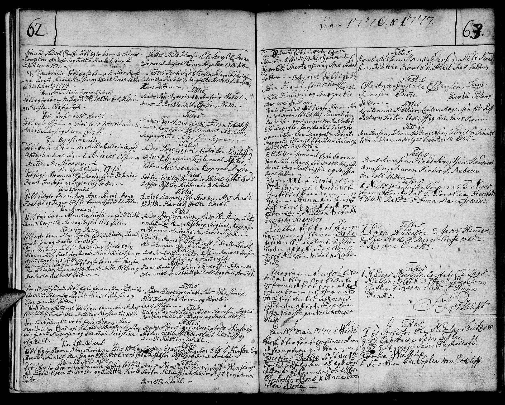 SATØ, Vardø sokneprestkontor, H/Ha/L0001kirke: Ministerialbok nr. 1, 1769-1804, s. 62-63