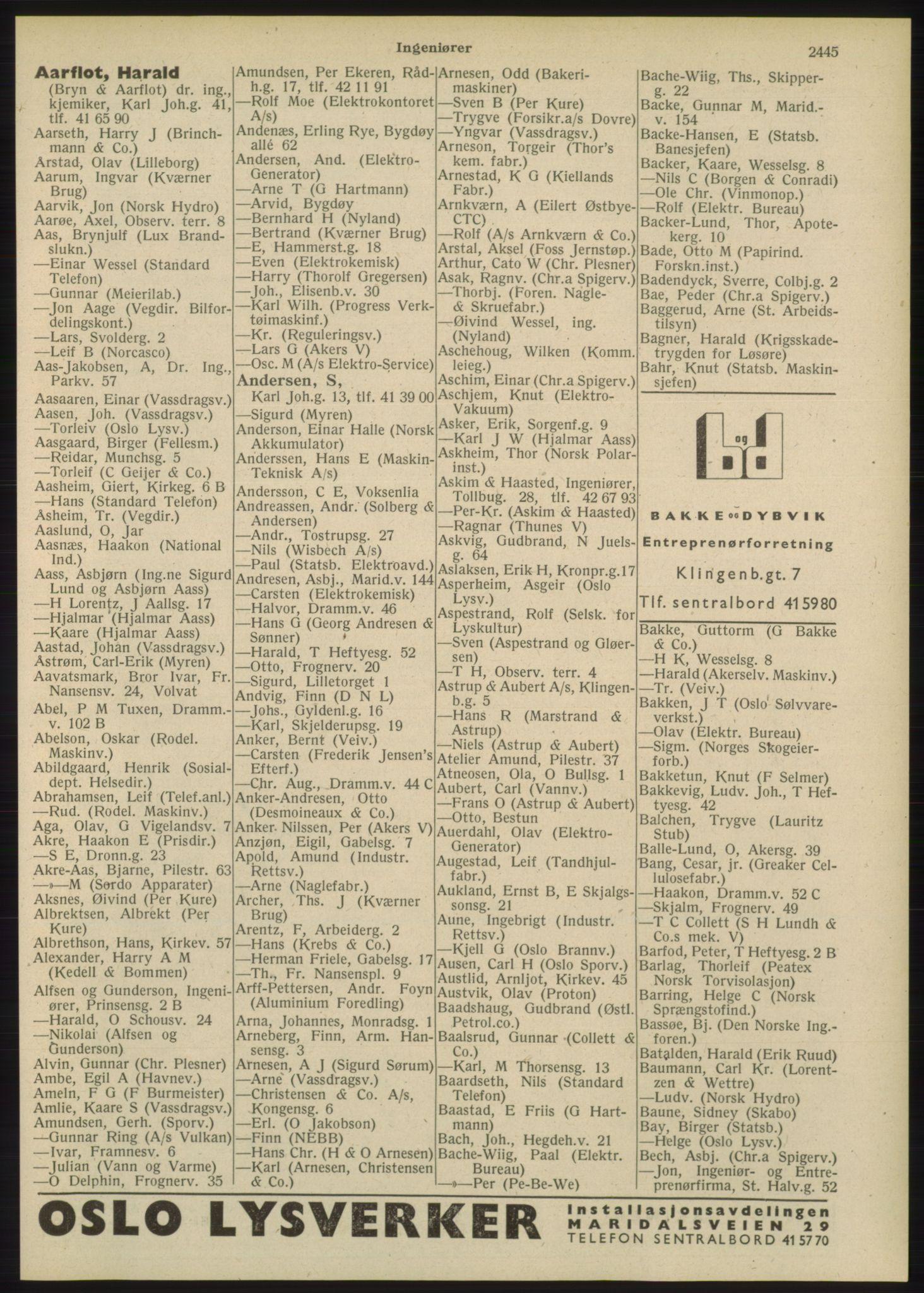 PUBL, Kristiania/Oslo adressebok, 1948, s. 2445