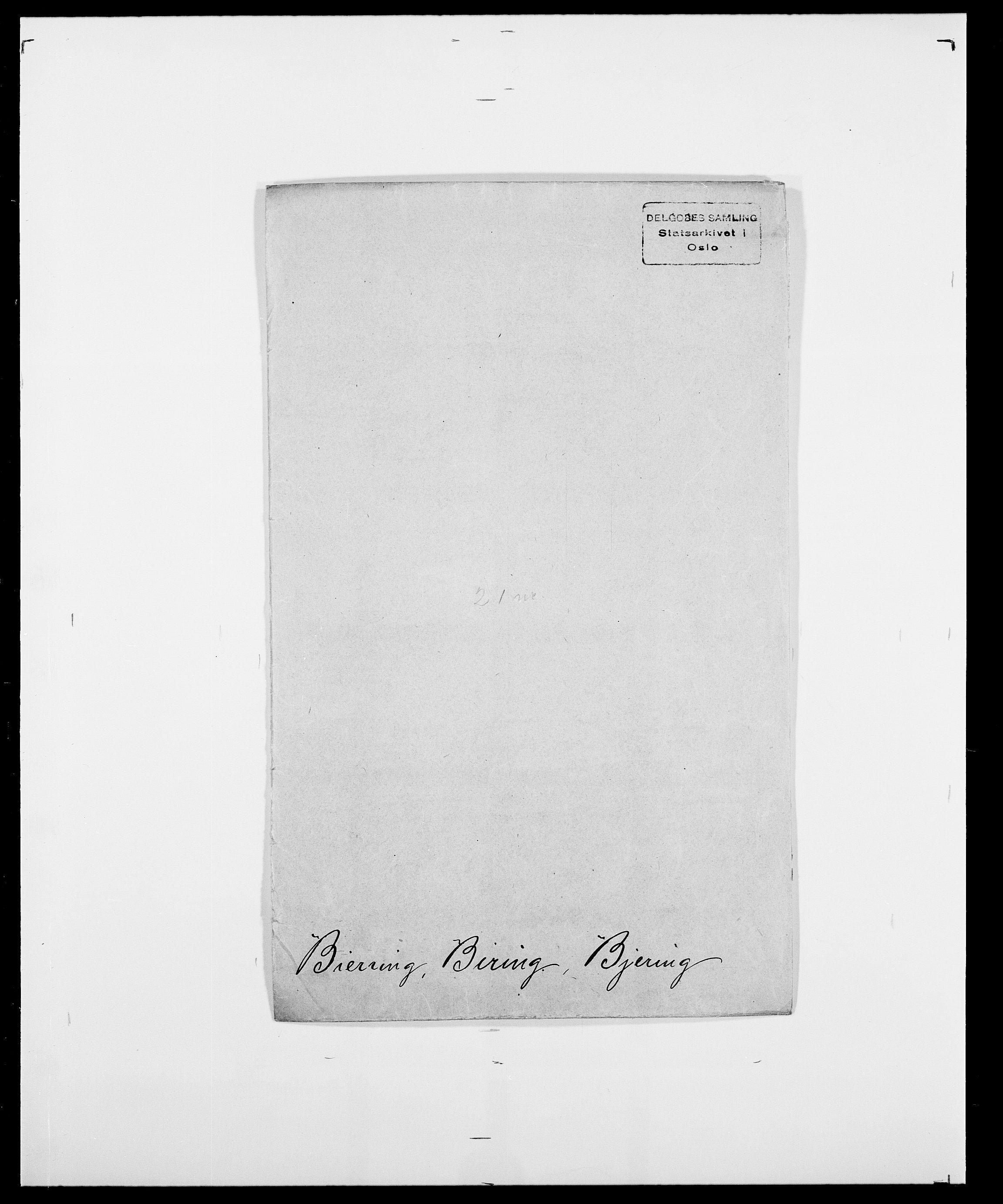 SAO, Delgobe, Charles Antoine - samling, D/Da/L0004: Bergendahl - Blære, s. 183