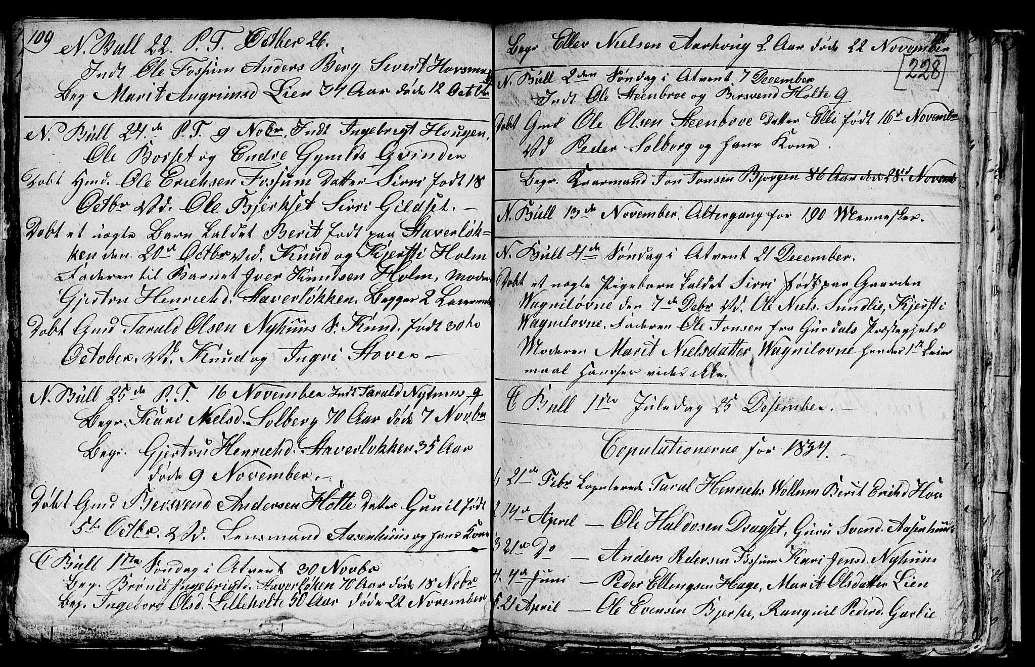 SAT, Ministerialprotokoller, klokkerbøker og fødselsregistre - Sør-Trøndelag, 689/L1042: Klokkerbok nr. 689C01, 1812-1841, s. 227-228