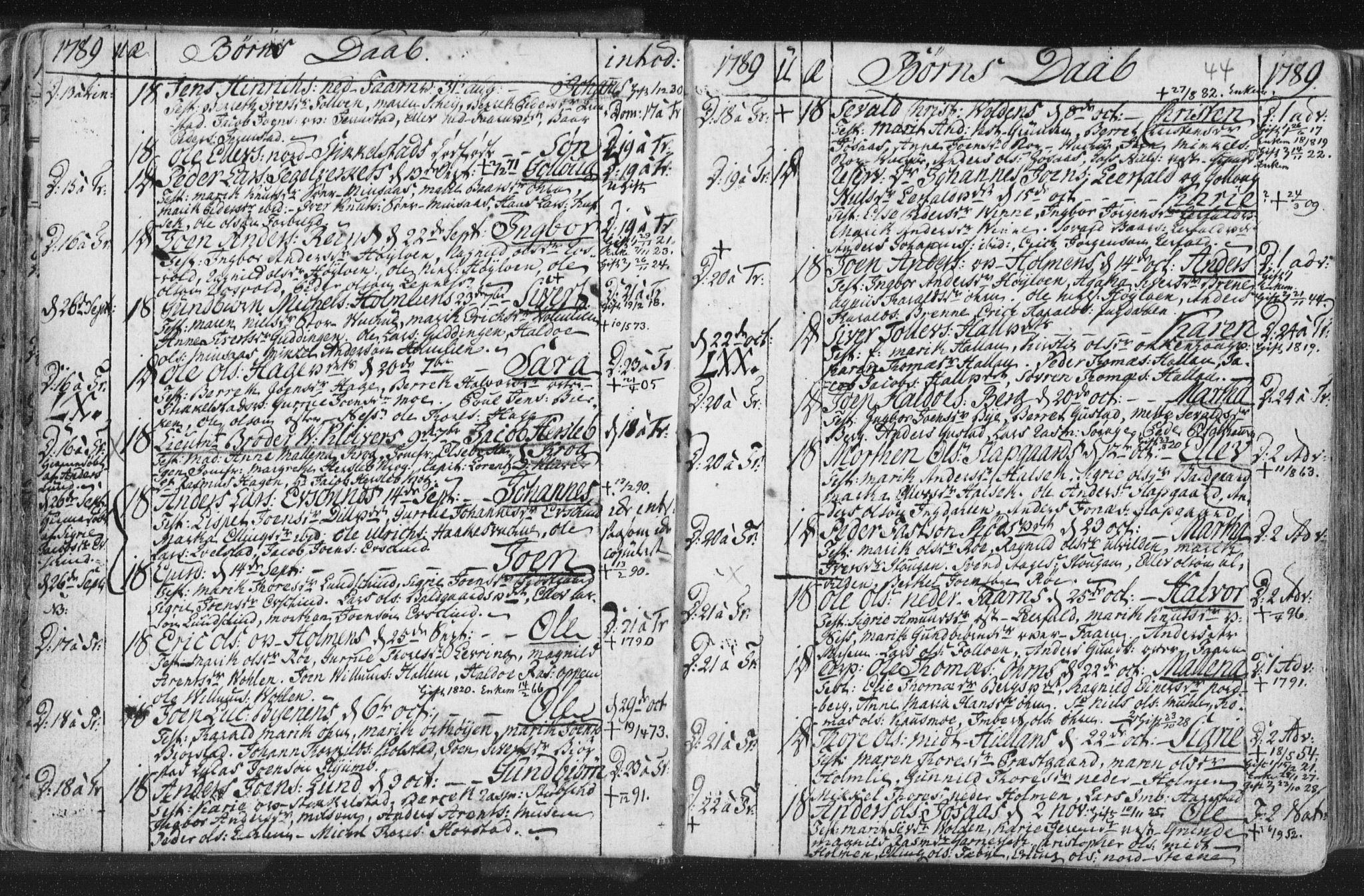 SAT, Ministerialprotokoller, klokkerbøker og fødselsregistre - Nord-Trøndelag, 723/L0232: Ministerialbok nr. 723A03, 1781-1804, s. 44