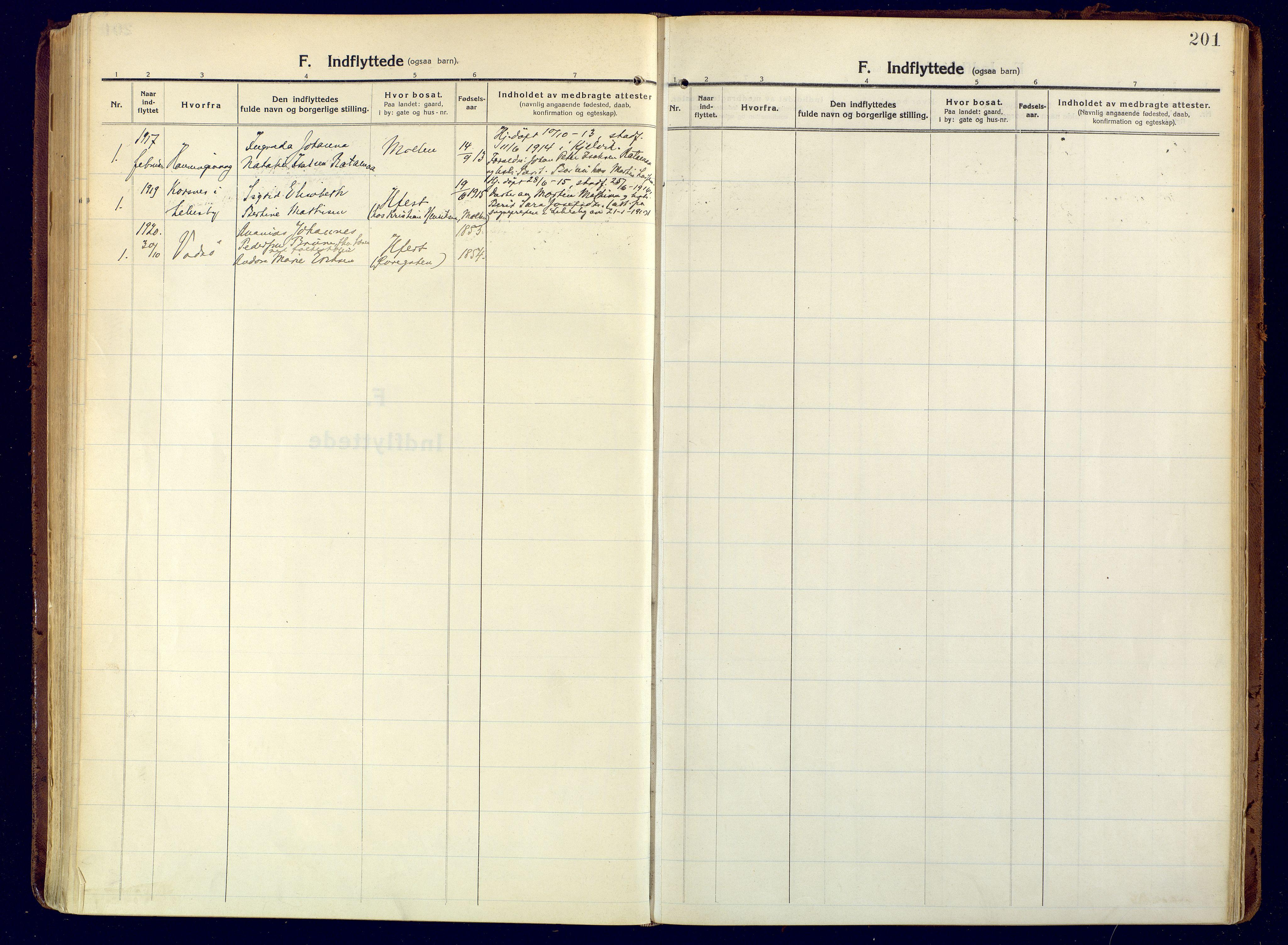 SATØ, Hammerfest sokneprestembete, Ministerialbok nr. 15, 1916-1923, s. 201