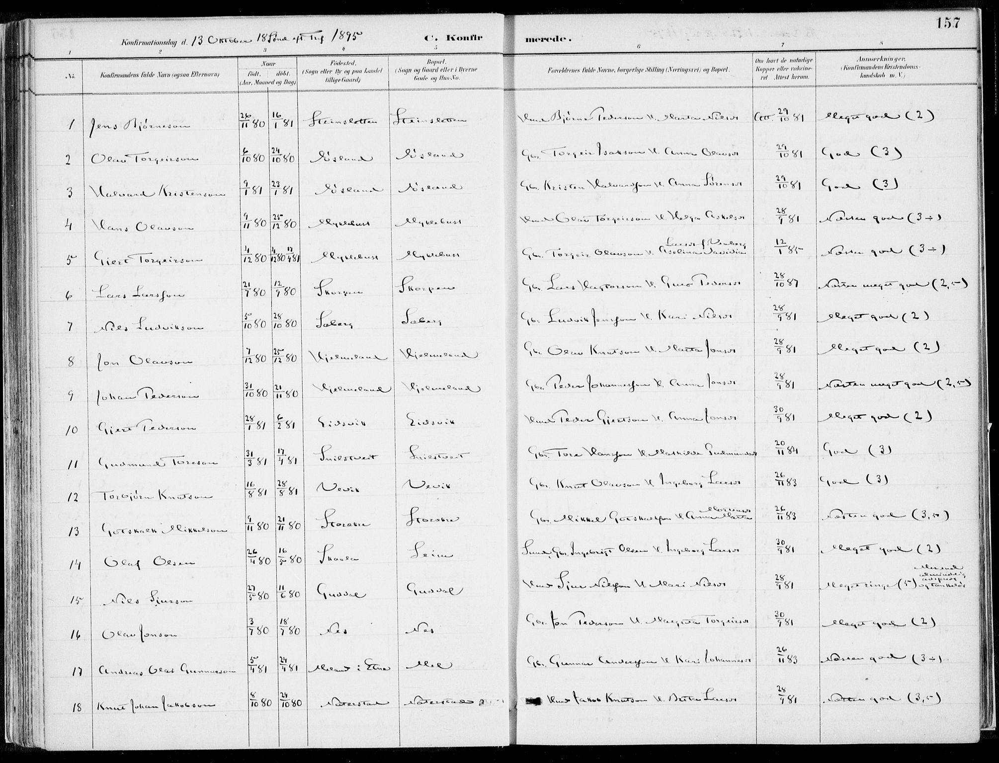 SAB, Kvinnherad Sokneprestembete, H/Haa: Ministerialbok nr. B  1, 1887-1921, s. 157