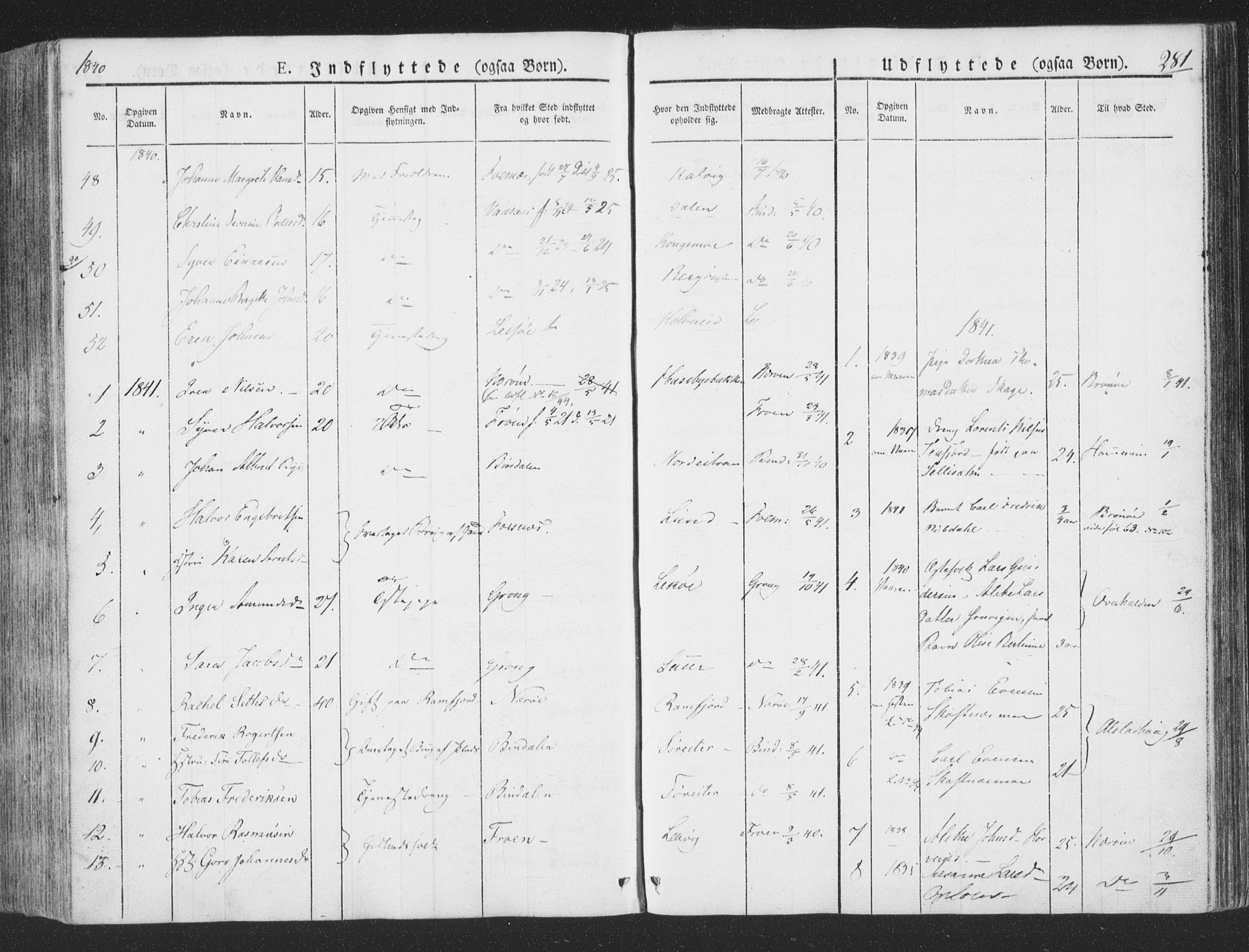 SAT, Ministerialprotokoller, klokkerbøker og fødselsregistre - Nord-Trøndelag, 780/L0639: Ministerialbok nr. 780A04, 1830-1844, s. 281