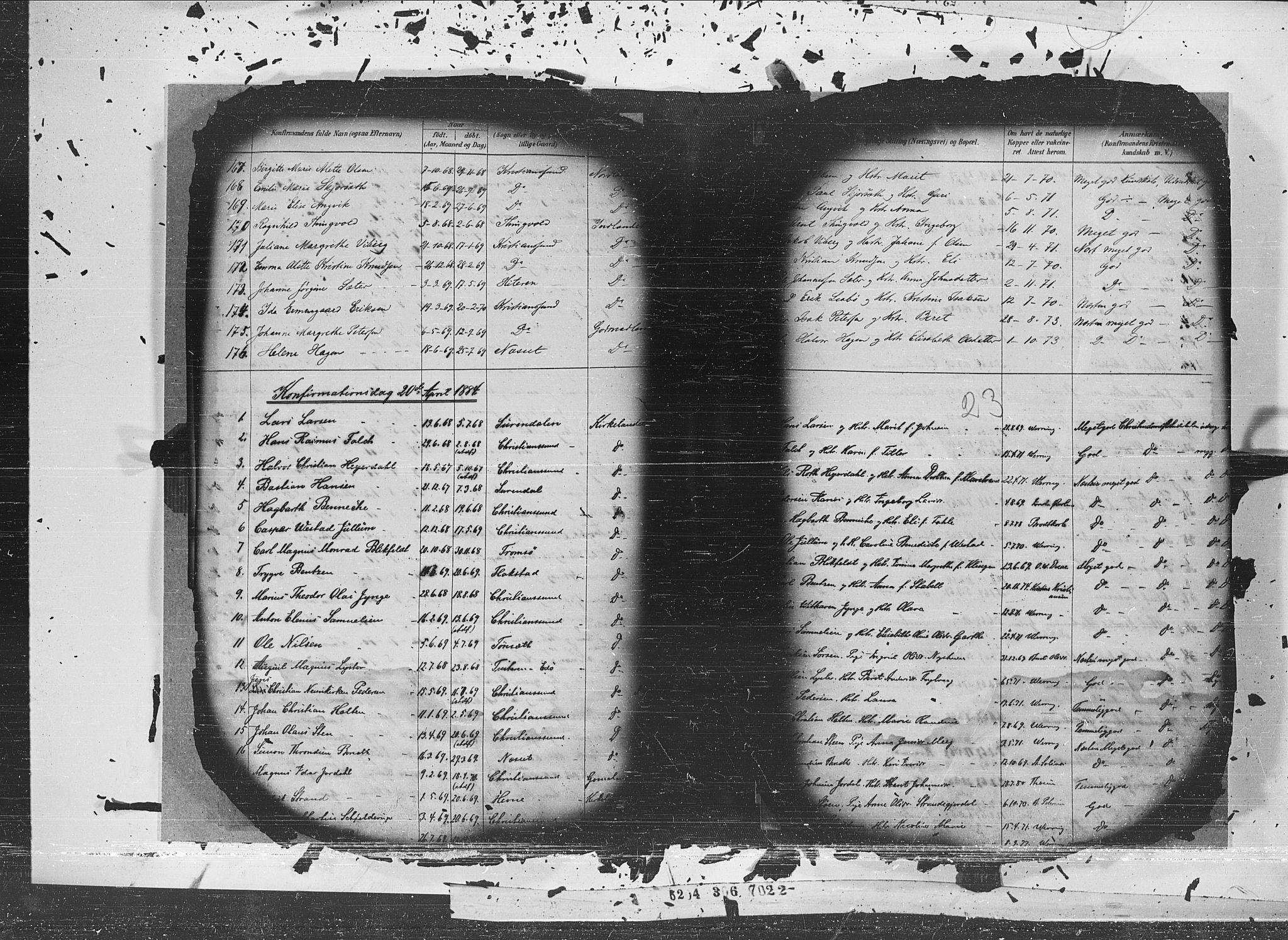 SAT, Ministerialprotokoller, klokkerbøker og fødselsregistre - Møre og Romsdal, 572/L0852: Ministerialbok nr. 572A15, 1880-1900, s. 23