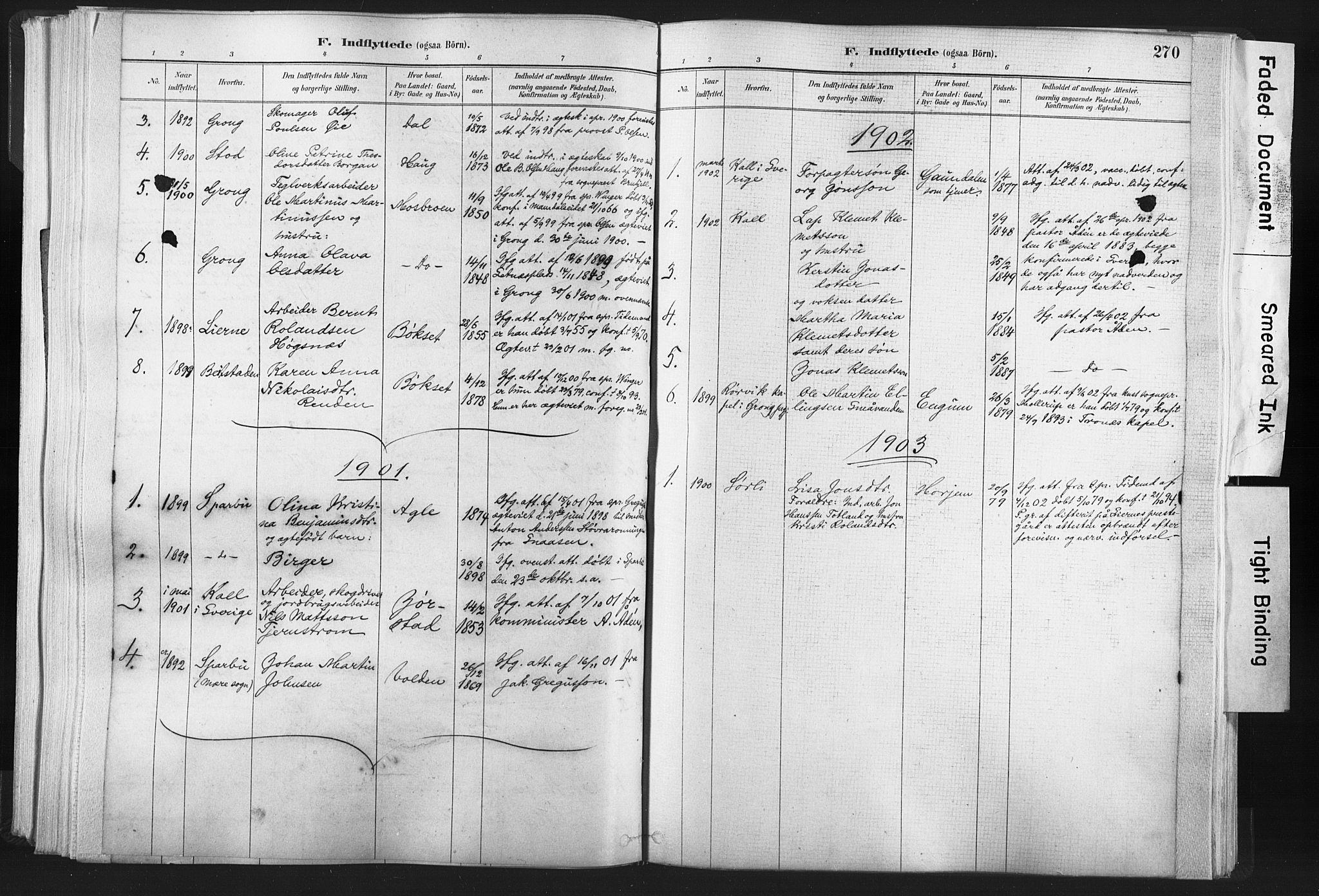 SAT, Ministerialprotokoller, klokkerbøker og fødselsregistre - Nord-Trøndelag, 749/L0474: Ministerialbok nr. 749A08, 1887-1903, s. 270