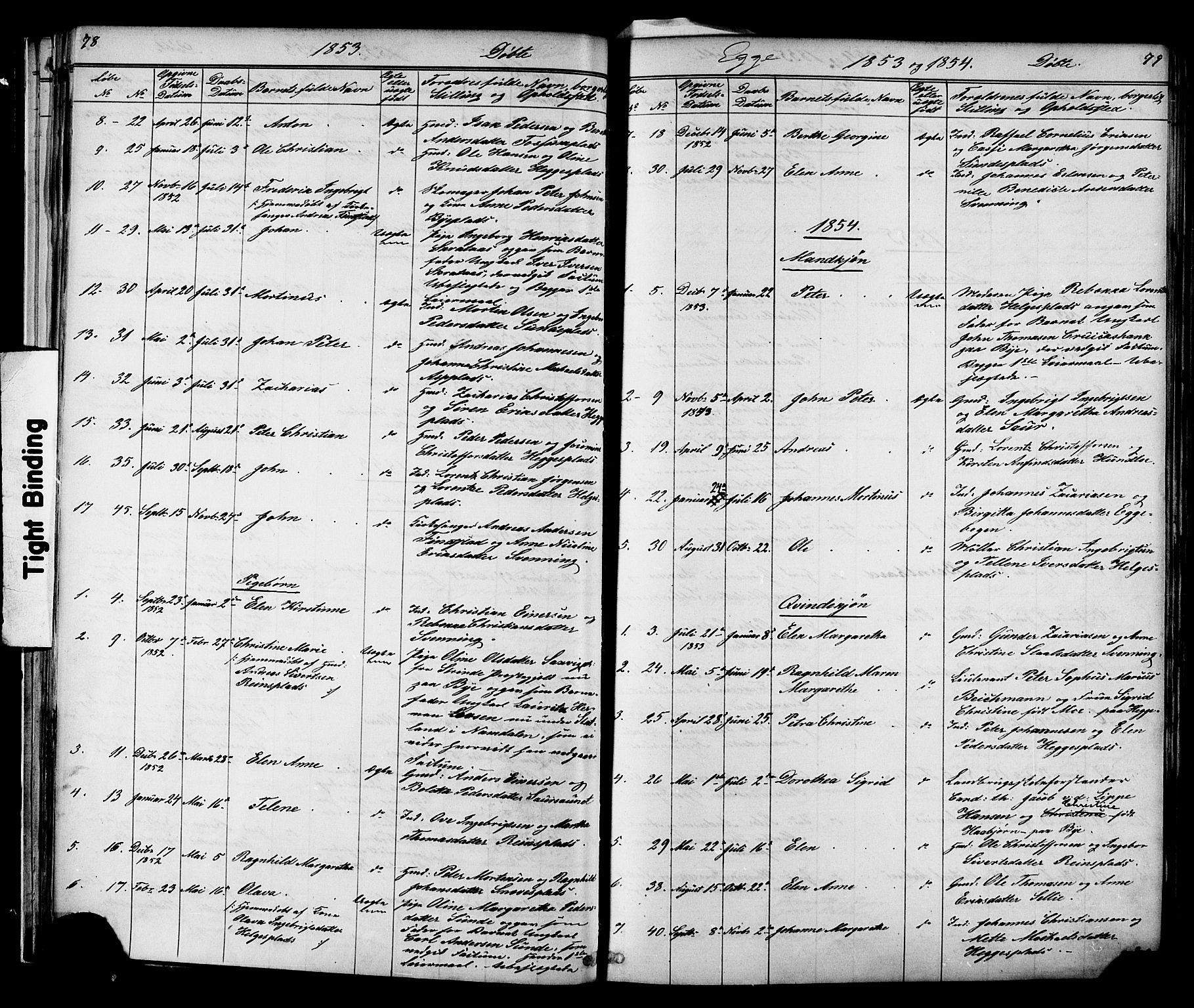 SAT, Ministerialprotokoller, klokkerbøker og fødselsregistre - Nord-Trøndelag, 739/L0367: Ministerialbok nr. 739A01 /3, 1838-1868, s. 78-79