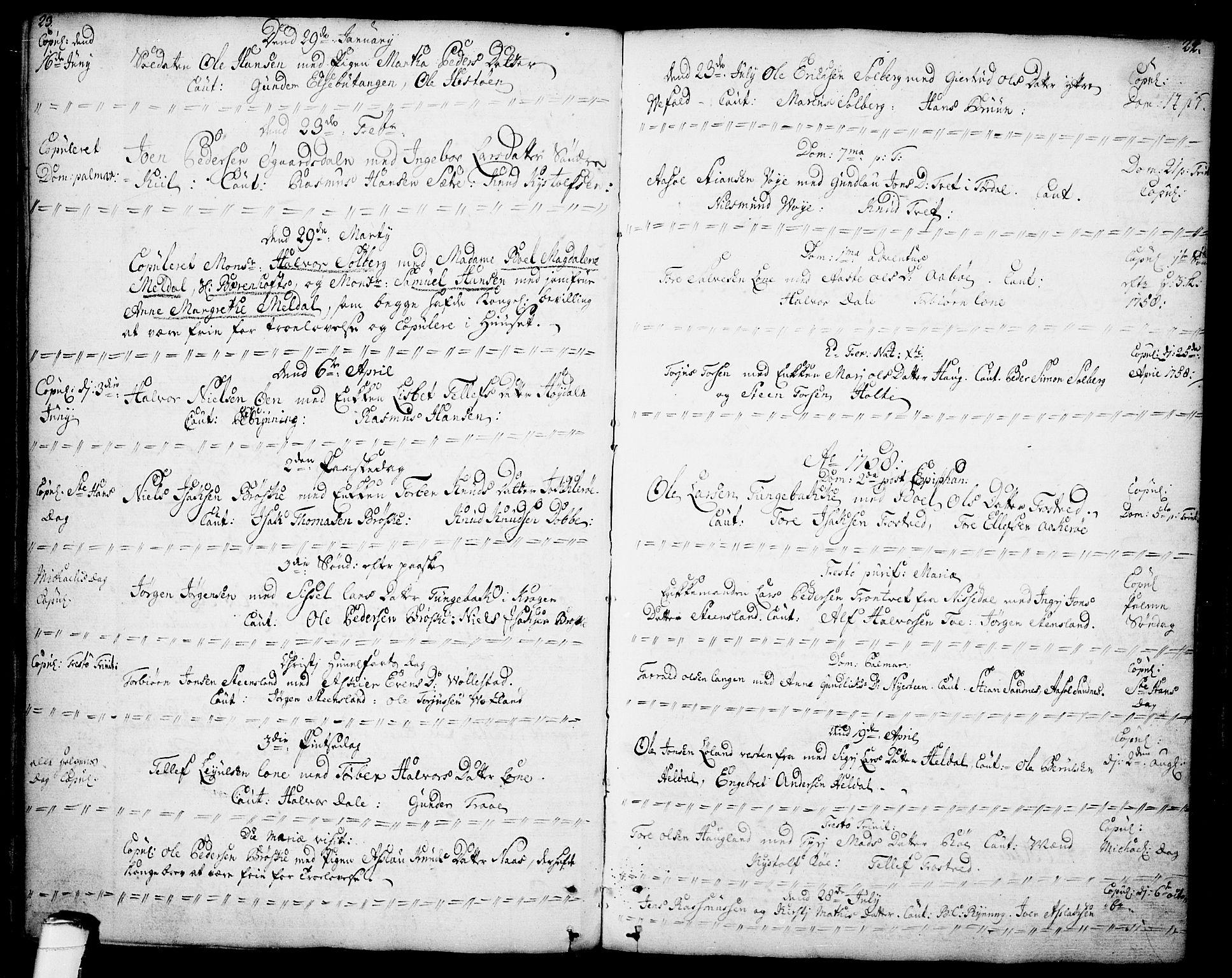 SAKO, Drangedal kirkebøker, F/Fa/L0001: Ministerialbok nr. 1, 1697-1767, s. 23-24