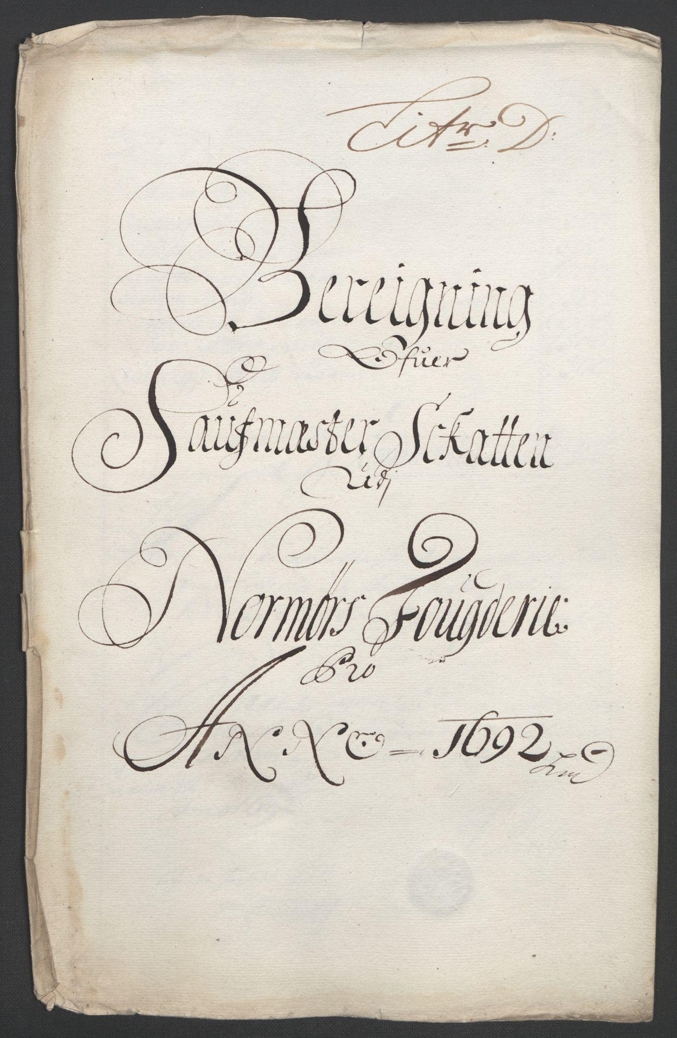 RA, Rentekammeret inntil 1814, Reviderte regnskaper, Fogderegnskap, R56/L3735: Fogderegnskap Nordmøre, 1692-1693, s. 75