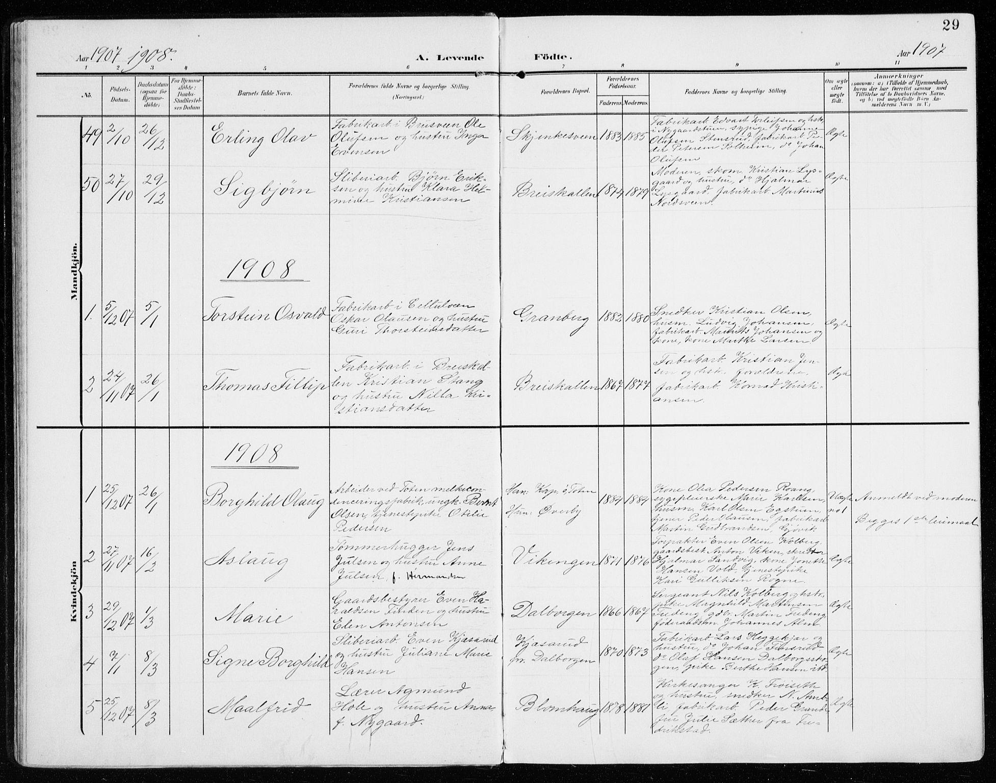SAH, Vardal prestekontor, H/Ha/Haa/L0016: Ministerialbok nr. 16, 1904-1916, s. 29
