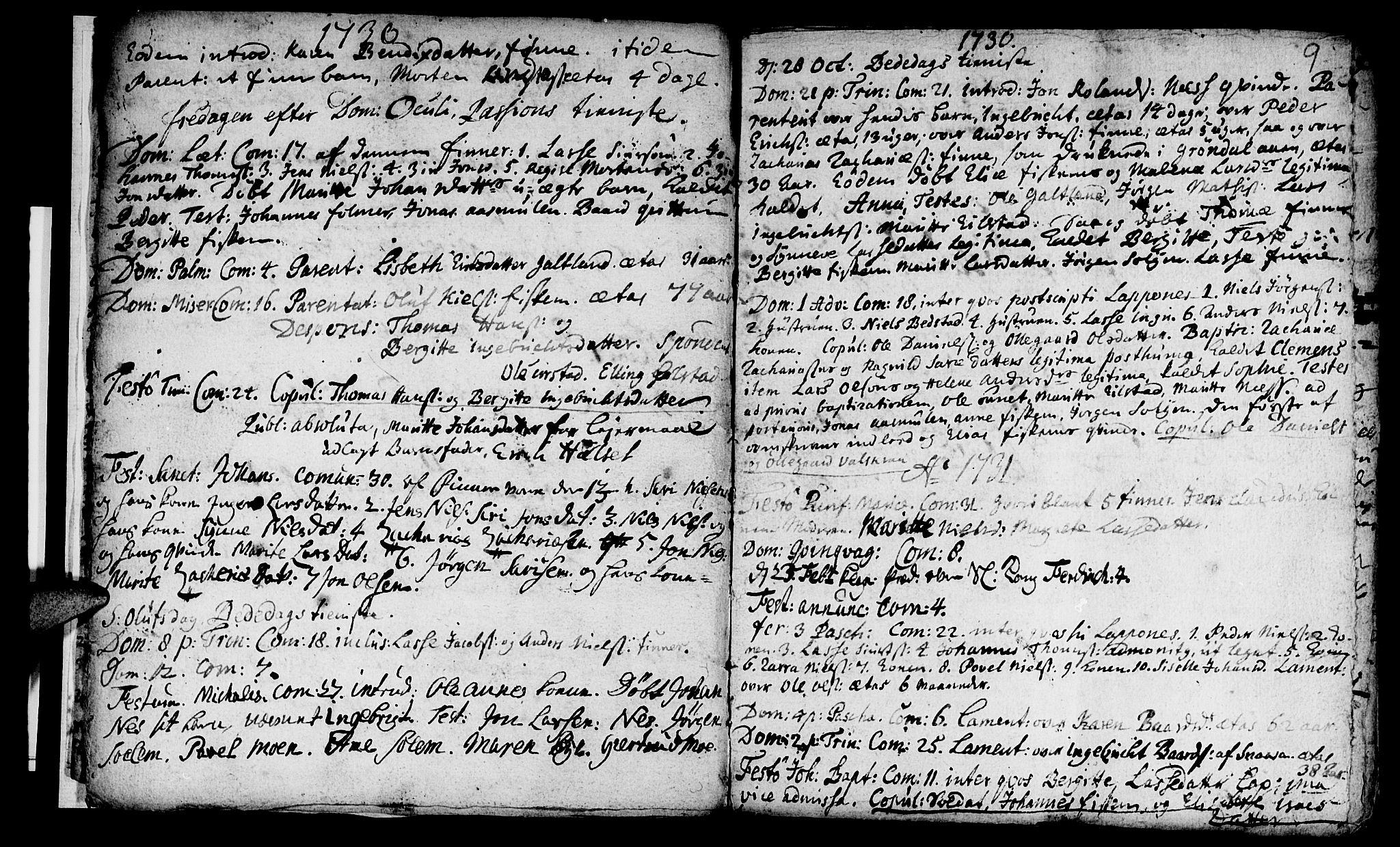 SAT, Ministerialprotokoller, klokkerbøker og fødselsregistre - Nord-Trøndelag, 759/L0525: Ministerialbok nr. 759A01, 1706-1748, s. 9