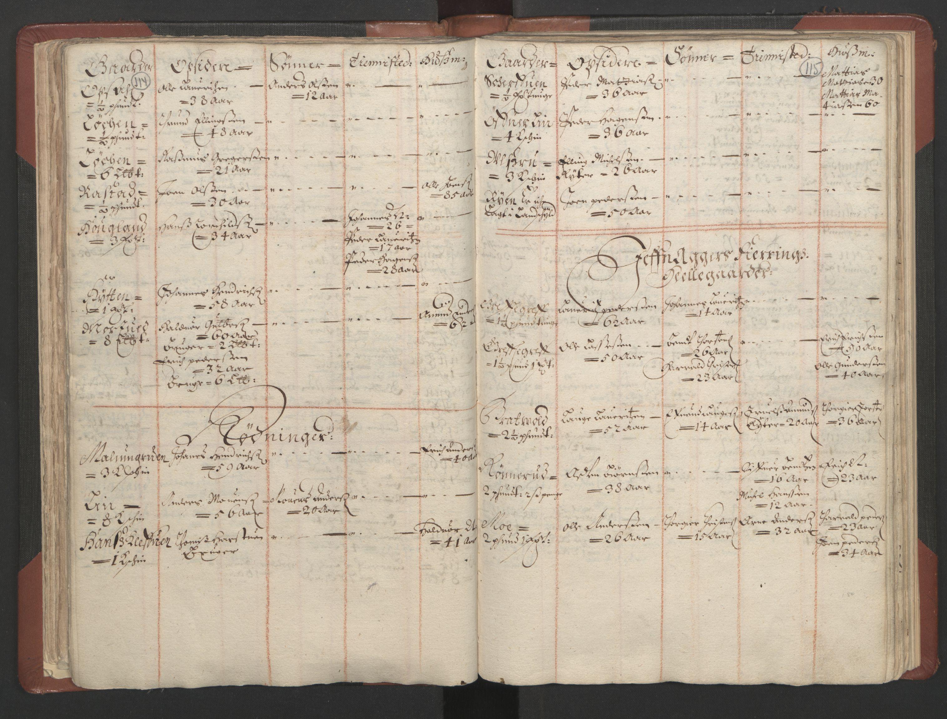 RA, Fogdenes og sorenskrivernes manntall 1664-1666, nr. 4: Hadeland og Valdres fogderi og Gudbrandsdal fogderi, 1664, s. 114-115