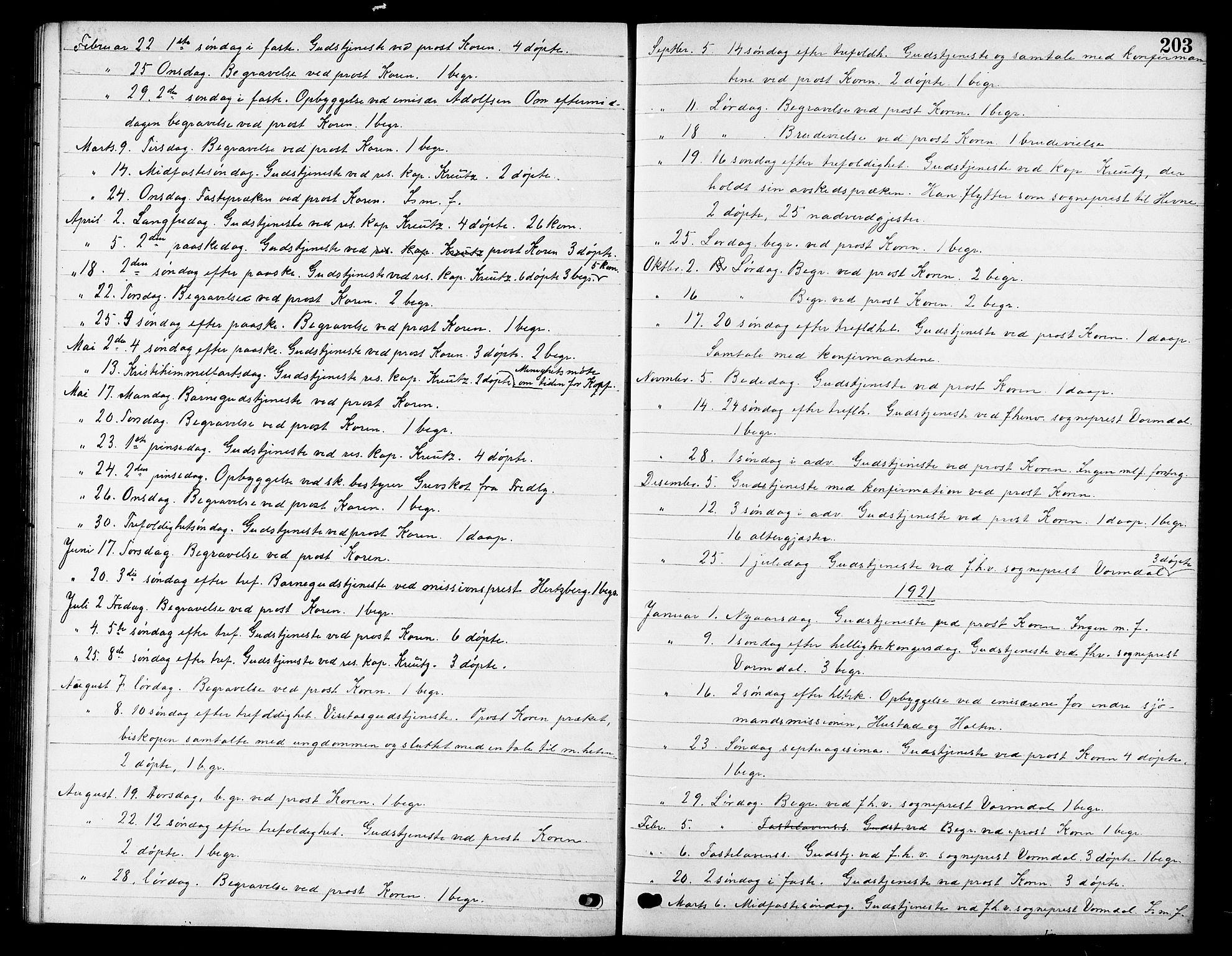 SAT, Ministerialprotokoller, klokkerbøker og fødselsregistre - Sør-Trøndelag, 669/L0831: Klokkerbok nr. 669C01, 1909-1924, s. 203