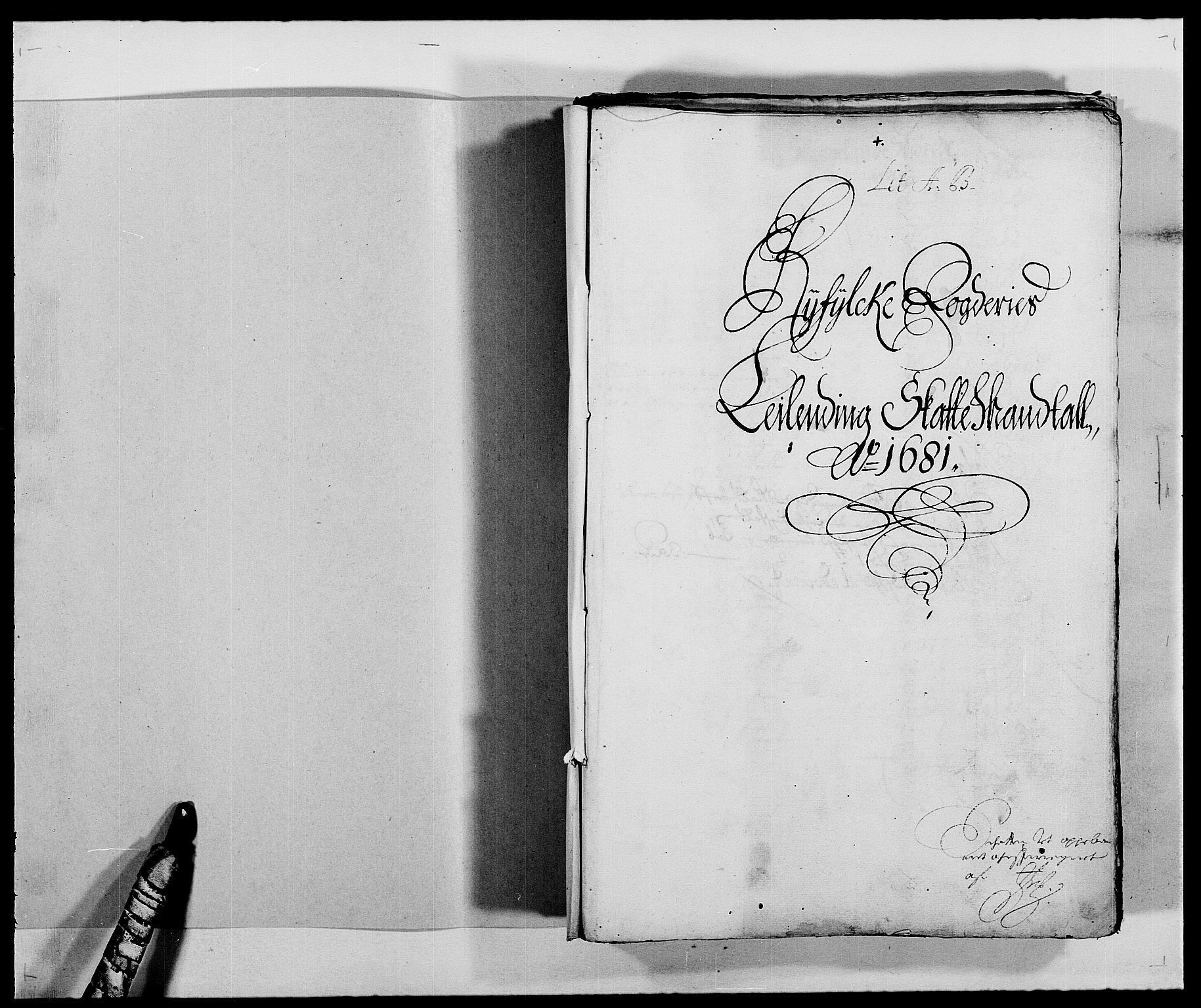 RA, Rentekammeret inntil 1814, Reviderte regnskaper, Fogderegnskap, R47/L2852: Fogderegnskap Ryfylke, 1681, s. 2