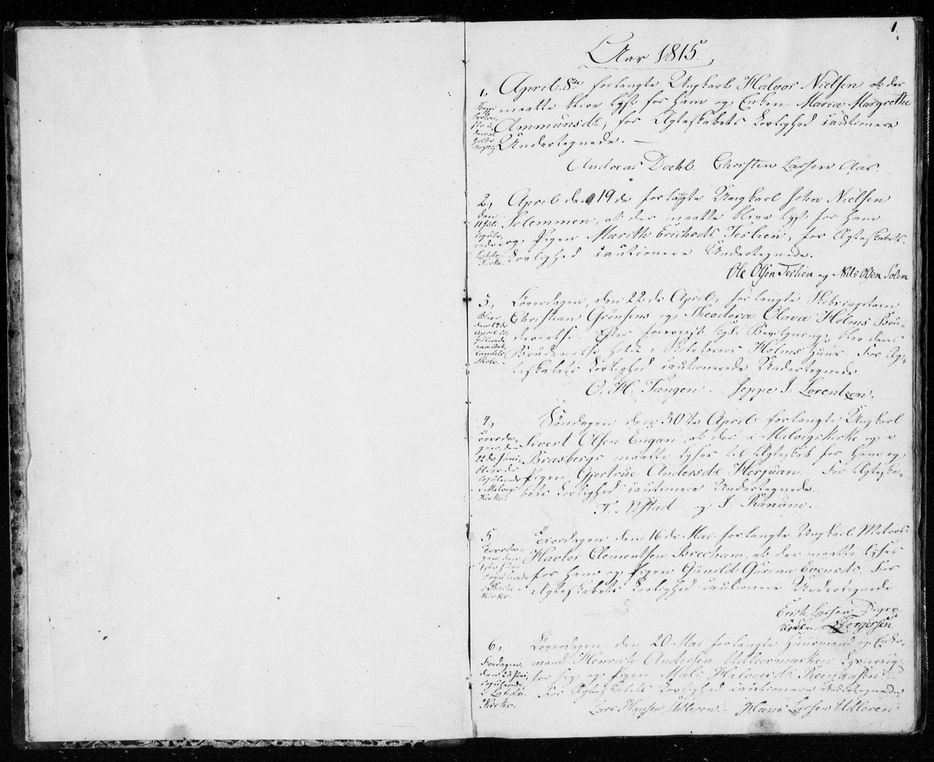 SAT, Ministerialprotokoller, klokkerbøker og fødselsregistre - Sør-Trøndelag, 606/L0295: Lysningsprotokoll nr. 606A10, 1815-1833, s. 0-1