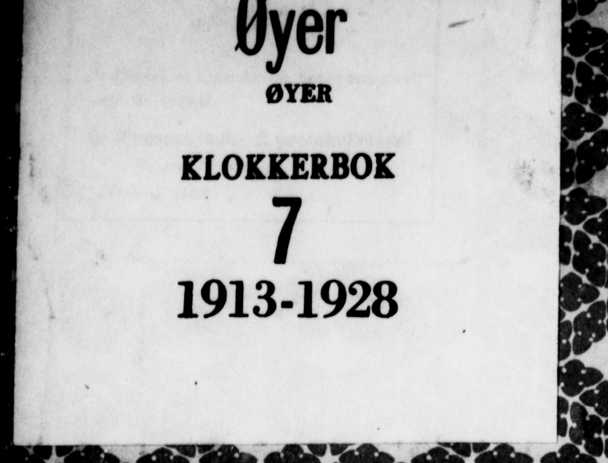 SAH, Øyer prestekontor, Klokkerbok nr. 7, 1913-1928