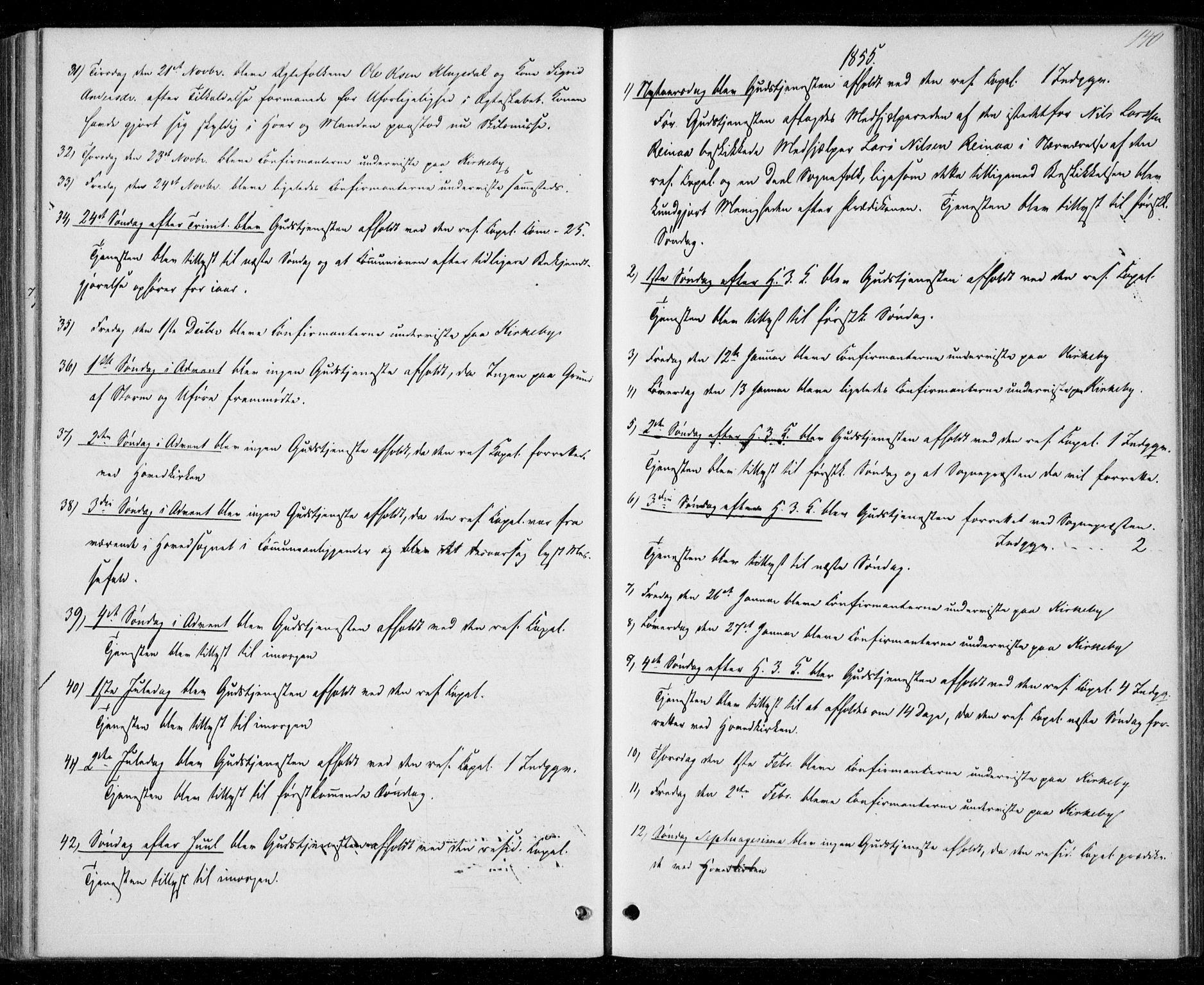 SAT, Ministerialprotokoller, klokkerbøker og fødselsregistre - Nord-Trøndelag, 706/L0040: Ministerialbok nr. 706A01, 1850-1861, s. 140