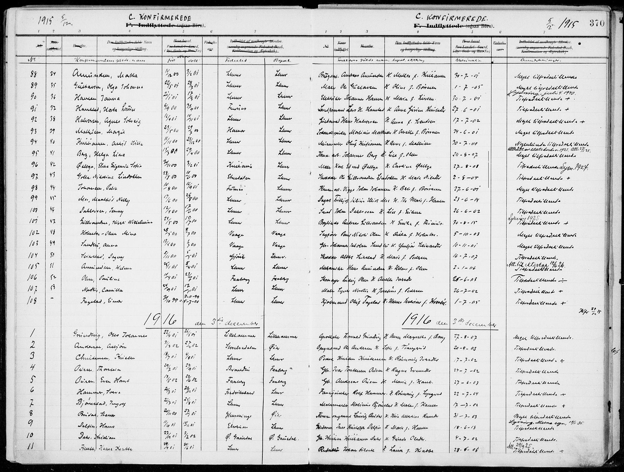 SAH, Lillehammer prestekontor, Ministerialbok nr. 1, 1901-1916, s. 370