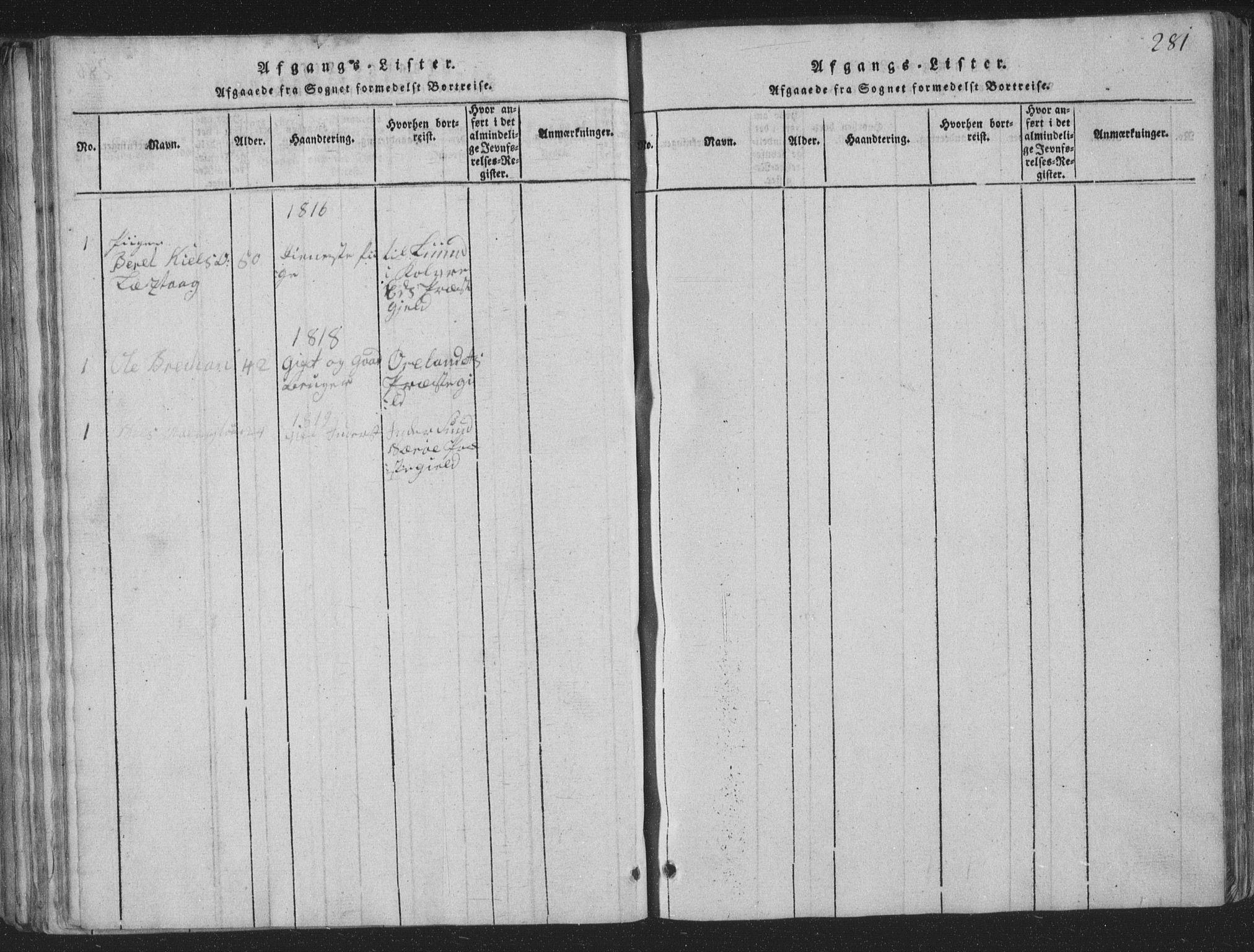 SAT, Ministerialprotokoller, klokkerbøker og fødselsregistre - Nord-Trøndelag, 773/L0613: Ministerialbok nr. 773A04, 1815-1845, s. 281