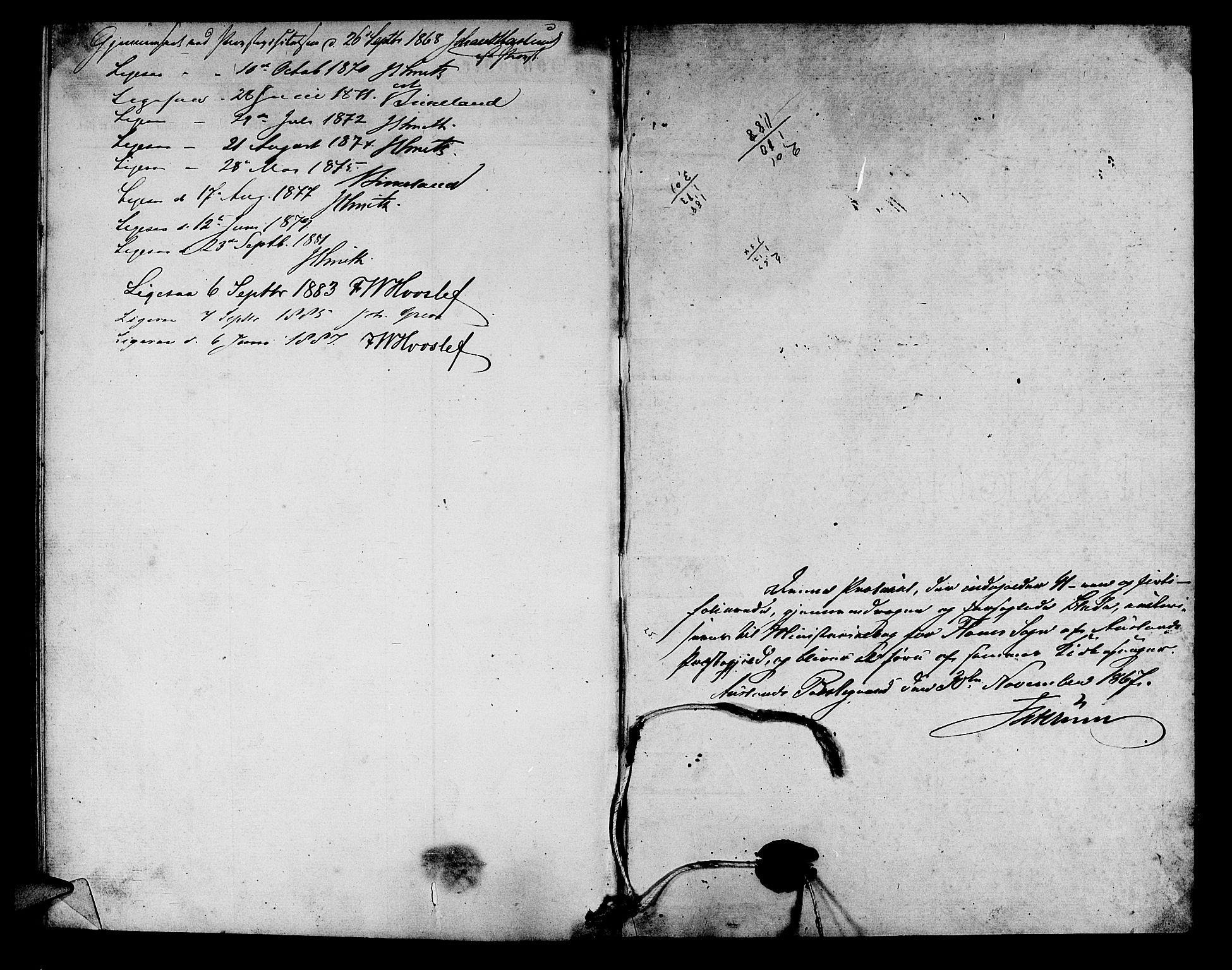 SAB, Aurland Sokneprestembete*, Klokkerbok nr. B 1, 1868-1887, s. 40