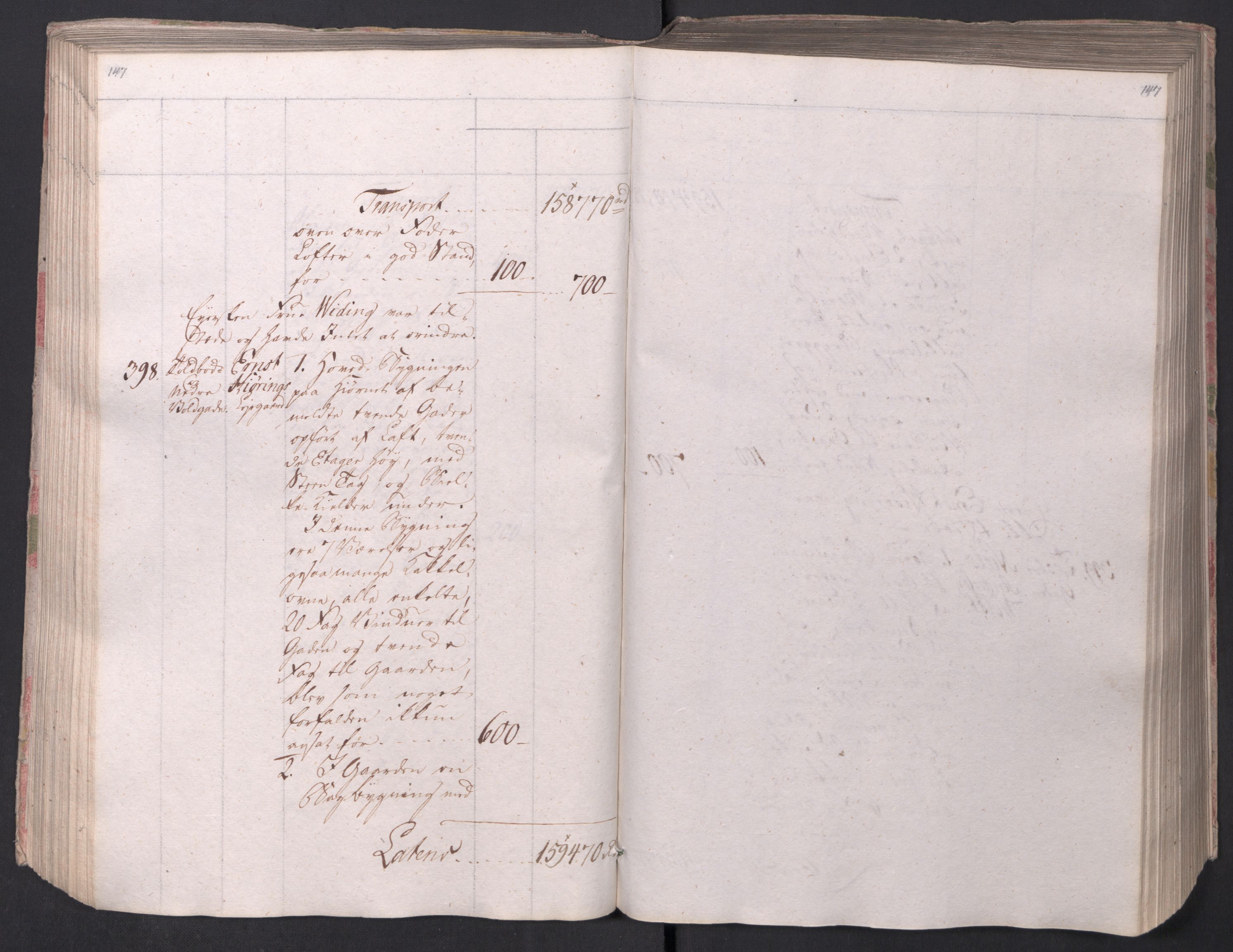 SAO, Kristiania stiftamt, I/Ia/L0015: Branntakster, 1797, s. 147