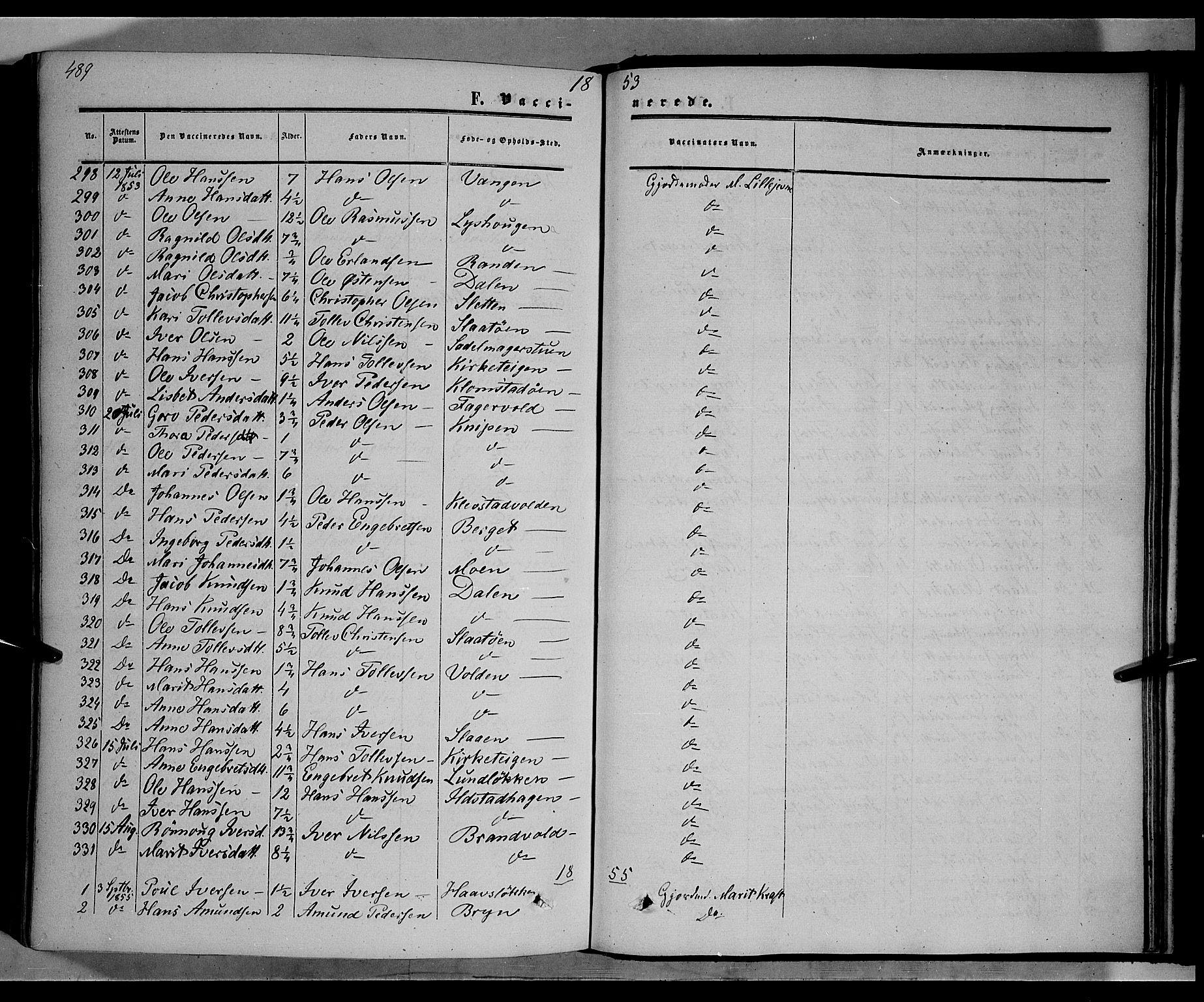 SAH, Nord-Fron prestekontor, Ministerialbok nr. 1, 1851-1864, s. 489