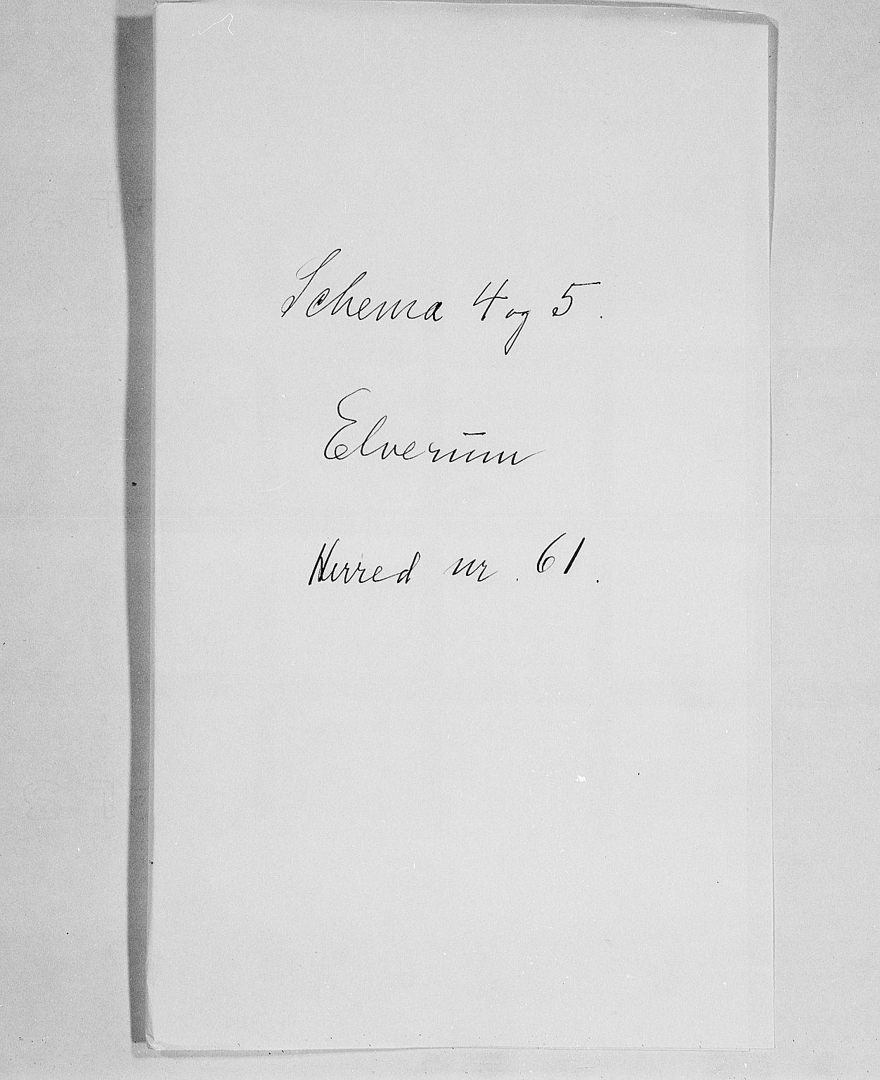 SAH, Folketelling 1900 for 0427 Elverum herred, 1900, s. 1