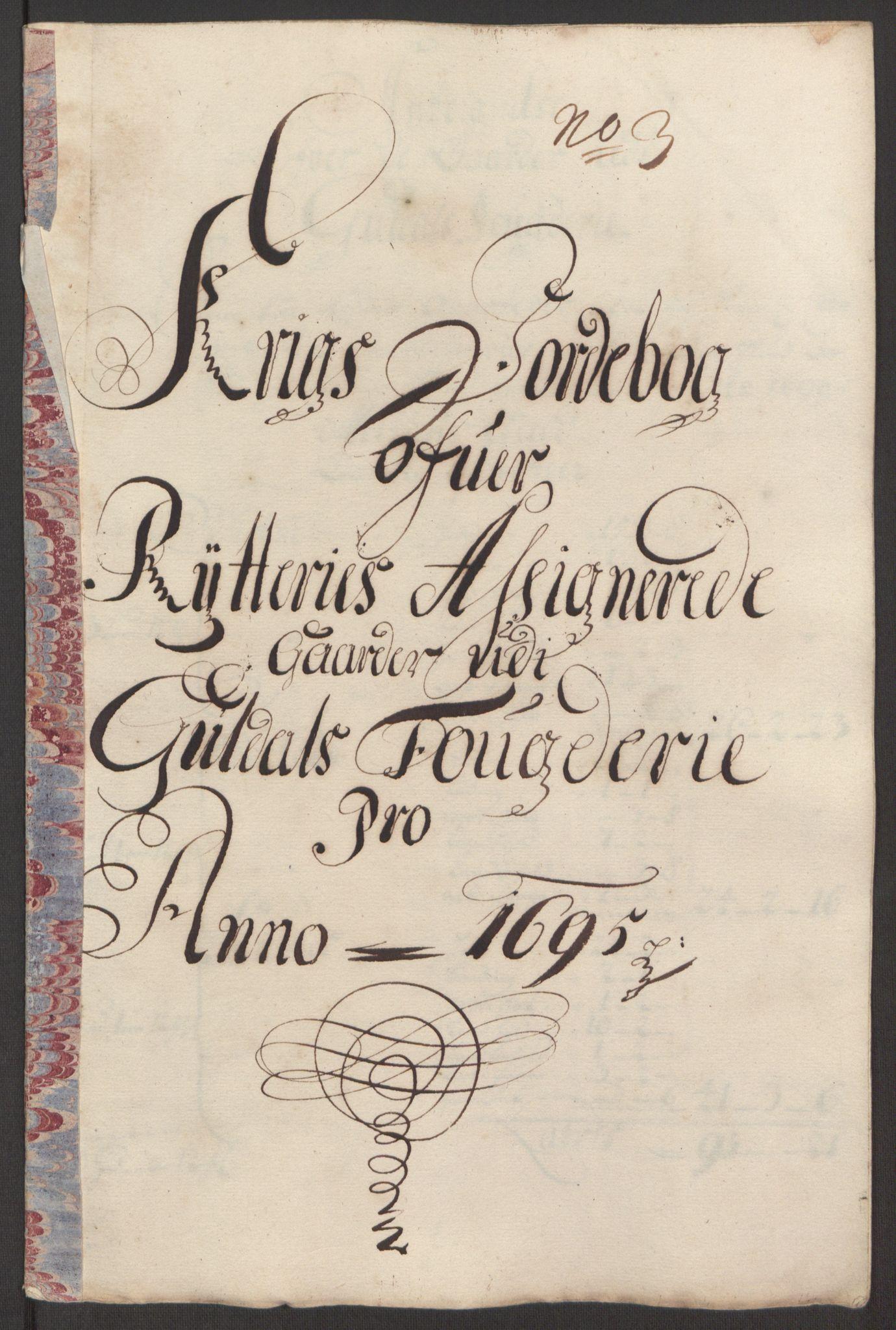 RA, Rentekammeret inntil 1814, Reviderte regnskaper, Fogderegnskap, R60/L3945: Fogderegnskap Orkdal og Gauldal, 1695, s. 403