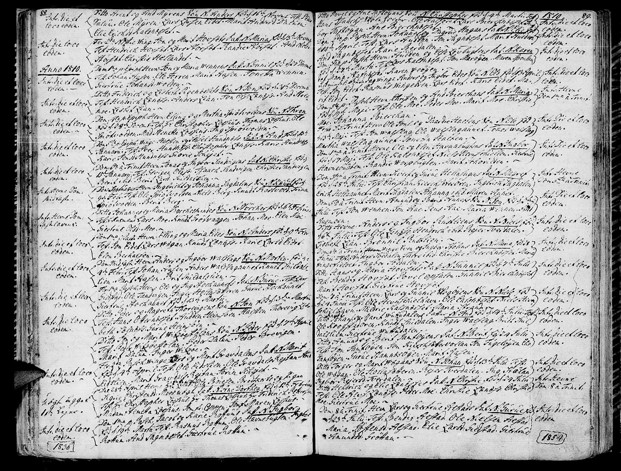 SAT, Ministerialprotokoller, klokkerbøker og fødselsregistre - Sør-Trøndelag, 630/L0490: Ministerialbok nr. 630A03, 1795-1818, s. 88-89