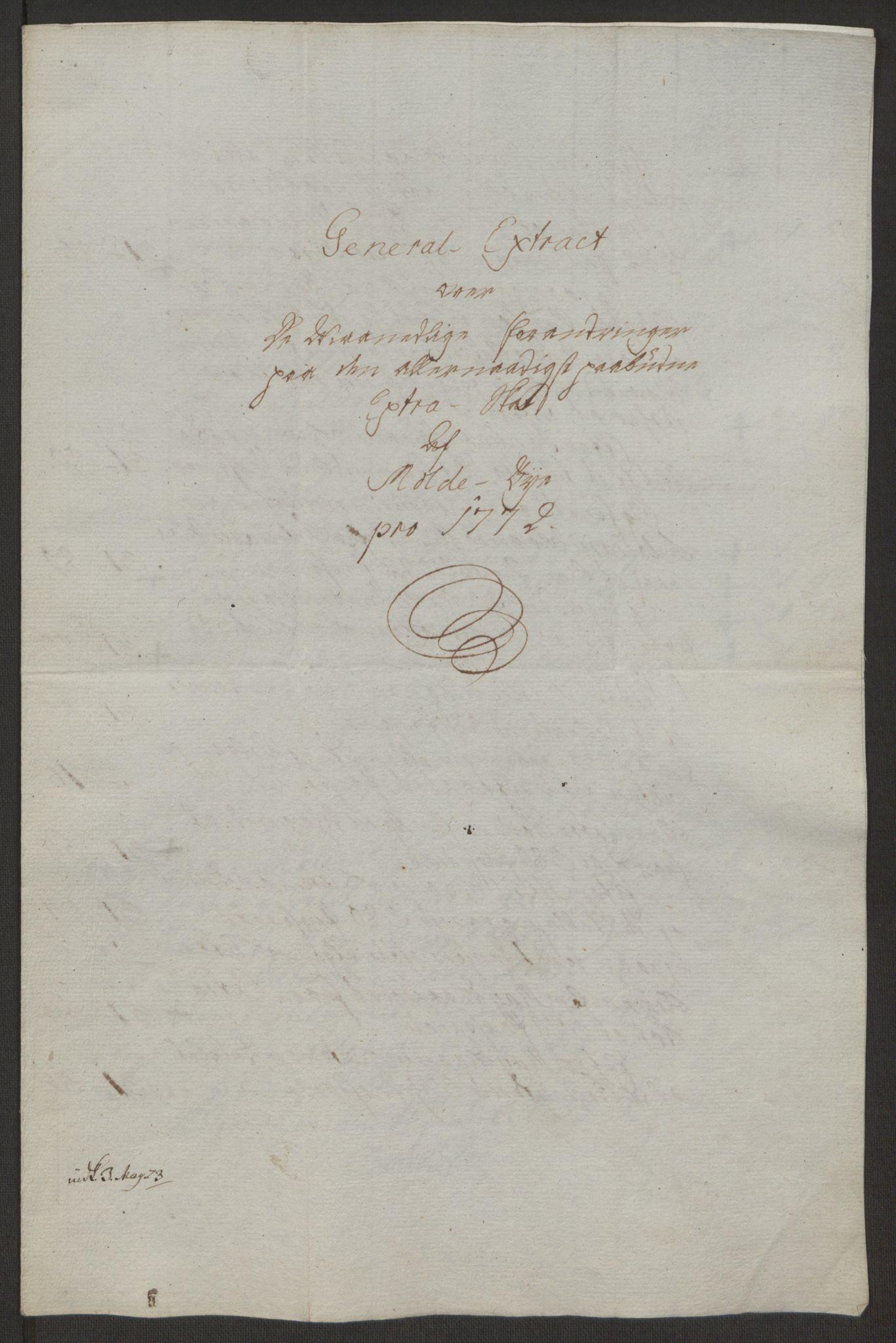 RA, Rentekammeret inntil 1814, Reviderte regnskaper, Byregnskaper, R/Rq/L0487: [Q1] Kontribusjonsregnskap, 1762-1772, s. 218