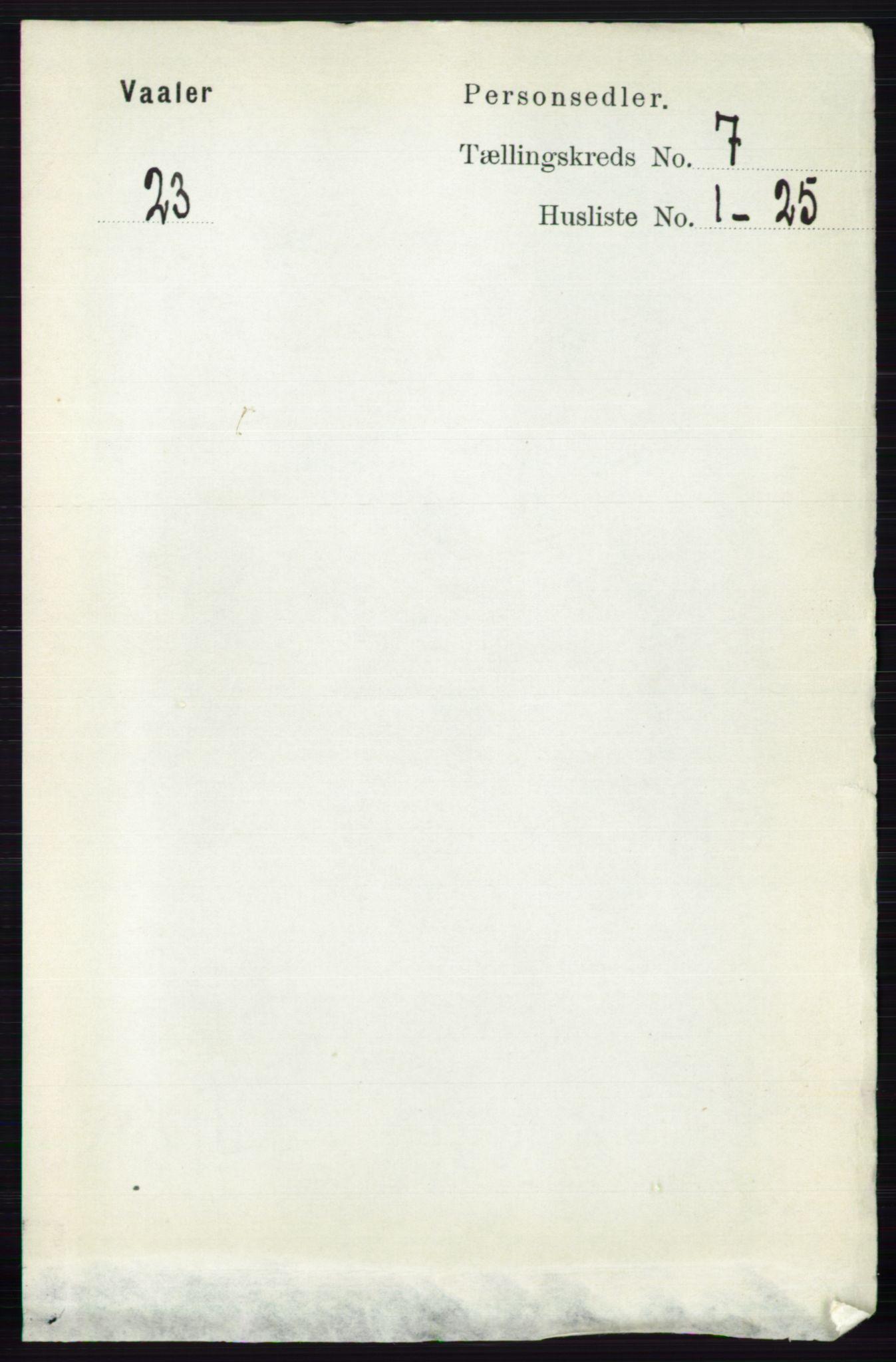 RA, Folketelling 1891 for 0137 Våler herred, 1891, s. 2845