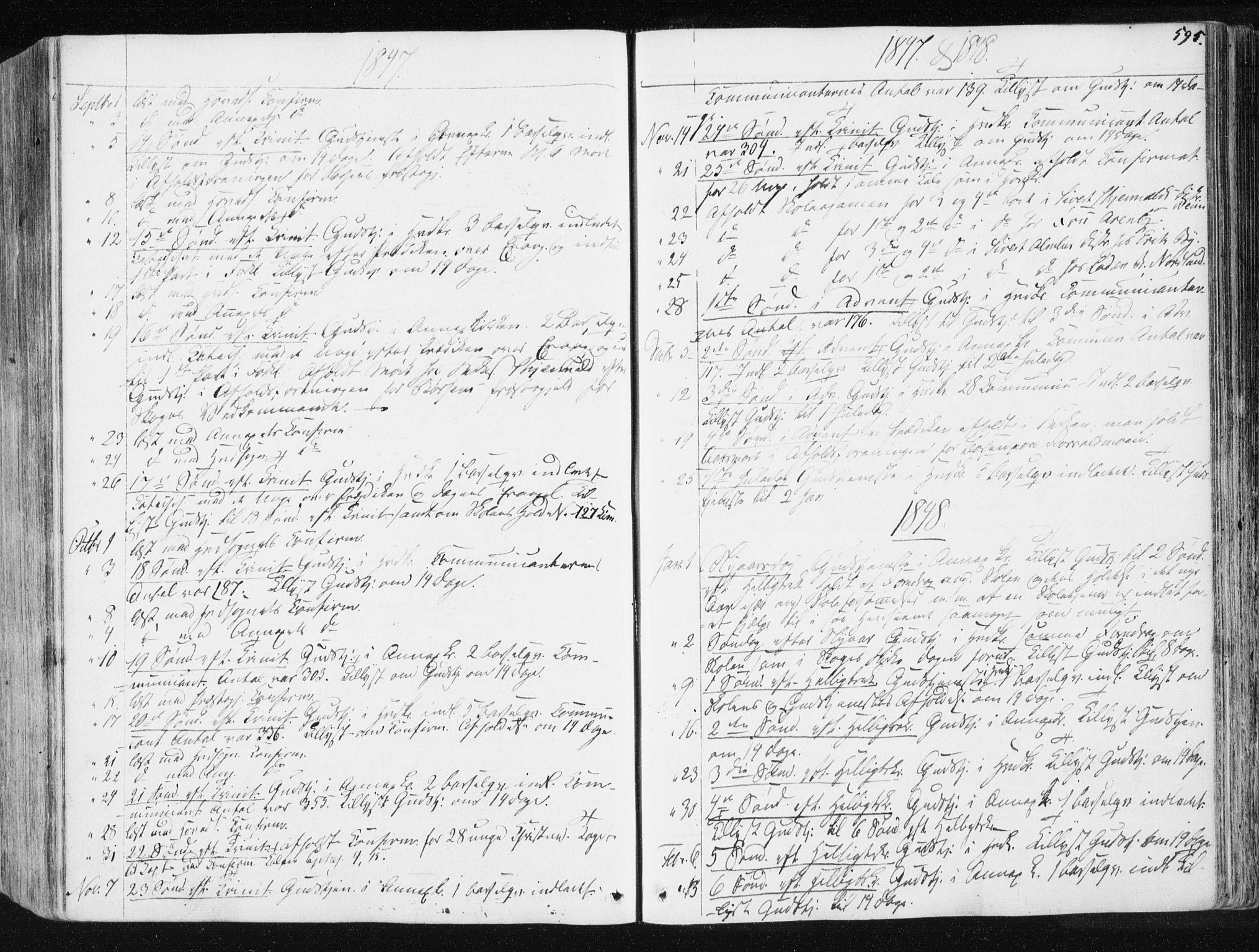 SAT, Ministerialprotokoller, klokkerbøker og fødselsregistre - Sør-Trøndelag, 665/L0771: Ministerialbok nr. 665A06, 1830-1856, s. 595