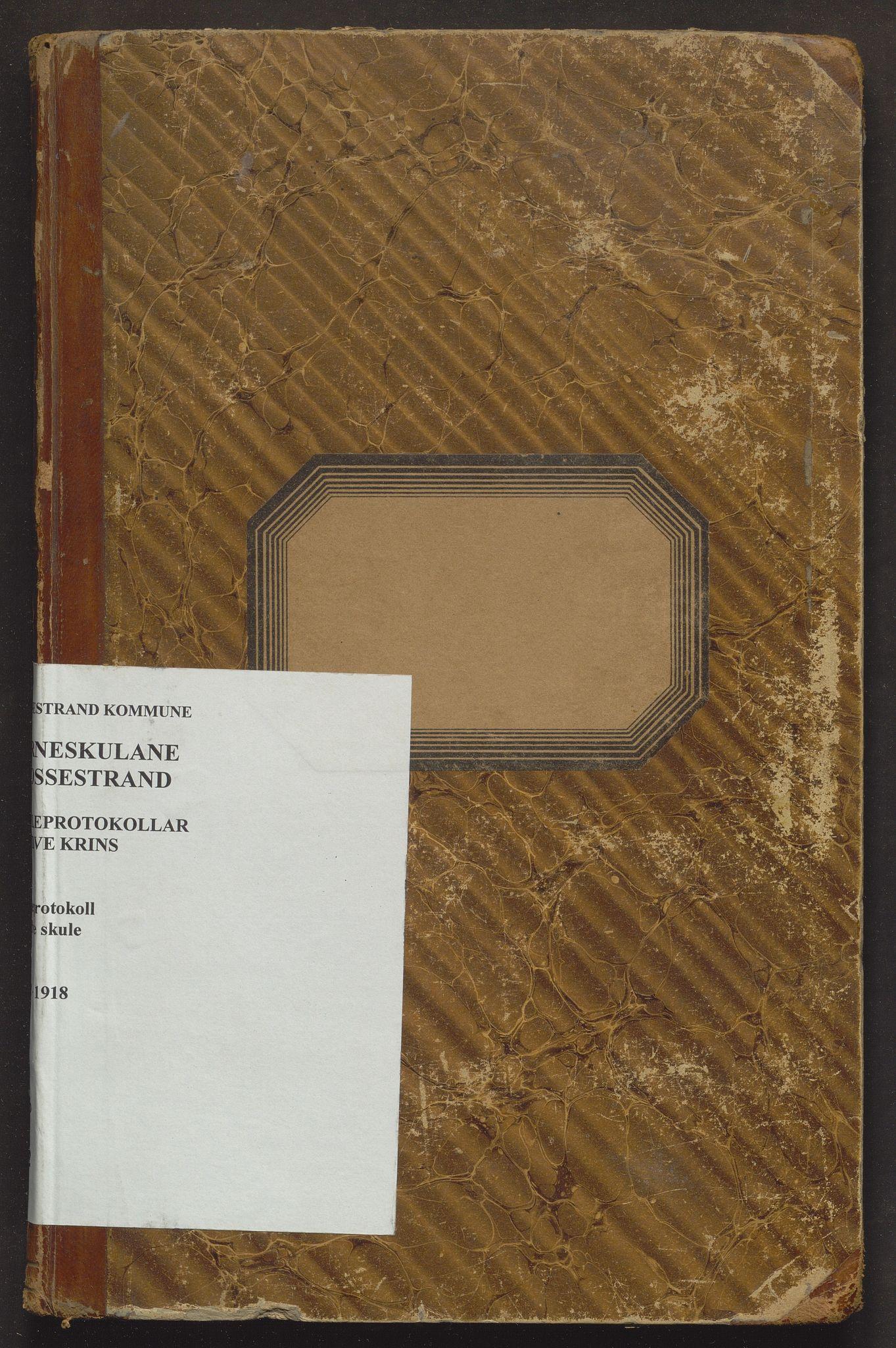 IKAH, Vossestrand kommune. Barneskulane , F/Ff/L0002: Skuleprotokoll for Sundve krins, 1892-1918