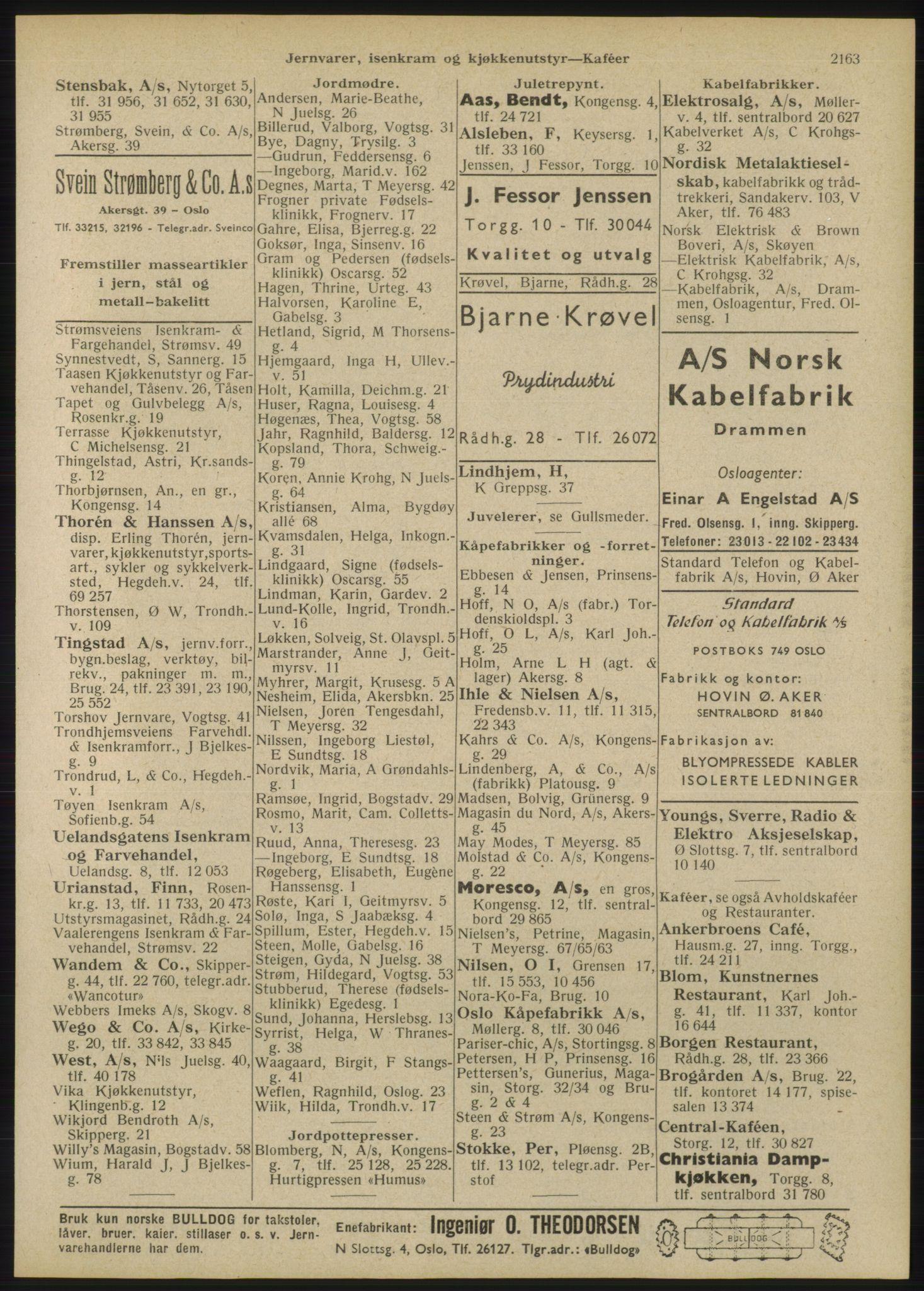 RA, Oslo adressebok (publikasjon)*, 1946, s. 2163