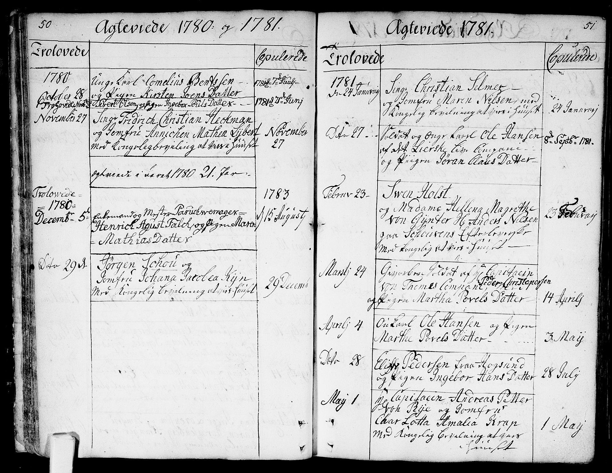 SAKO, Bragernes kirkebøker, F/Fa/L0005: Ministerialbok nr. I 5, 1759-1781, s. 50-51
