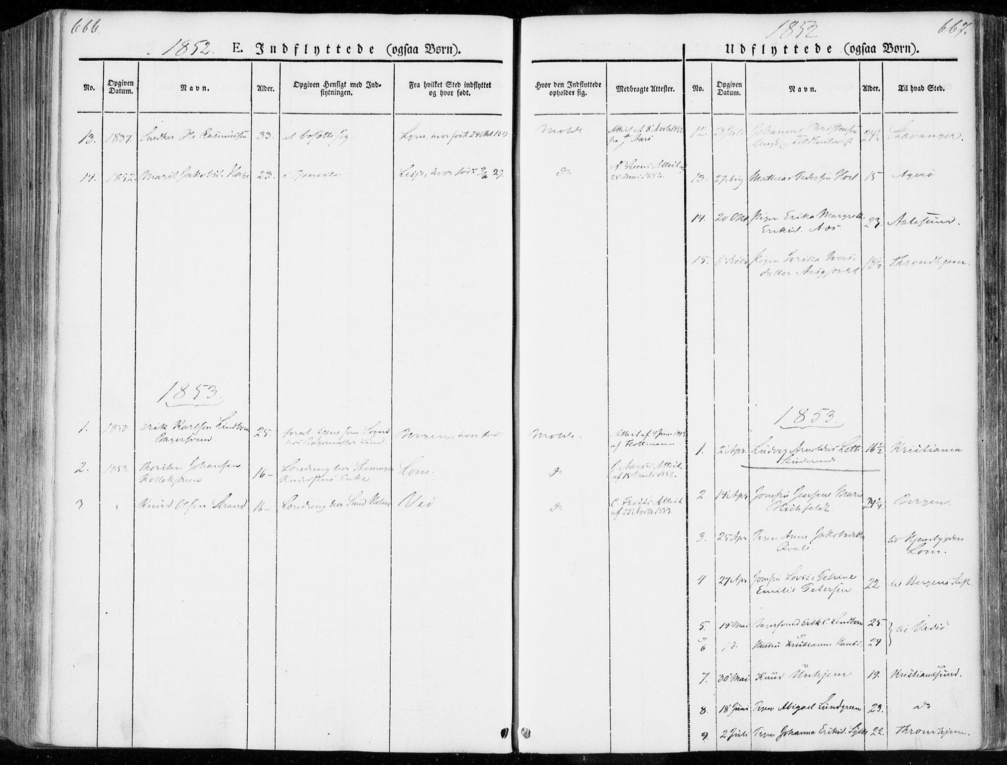 SAT, Ministerialprotokoller, klokkerbøker og fødselsregistre - Møre og Romsdal, 558/L0689: Ministerialbok nr. 558A03, 1843-1872, s. 666-667